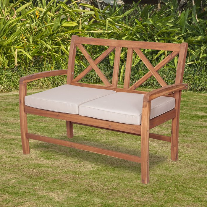 Famous Tim X Back Patio Loveseat With Cushions In Tim X Back Patio Loveseats With Cushions (View 4 of 20)