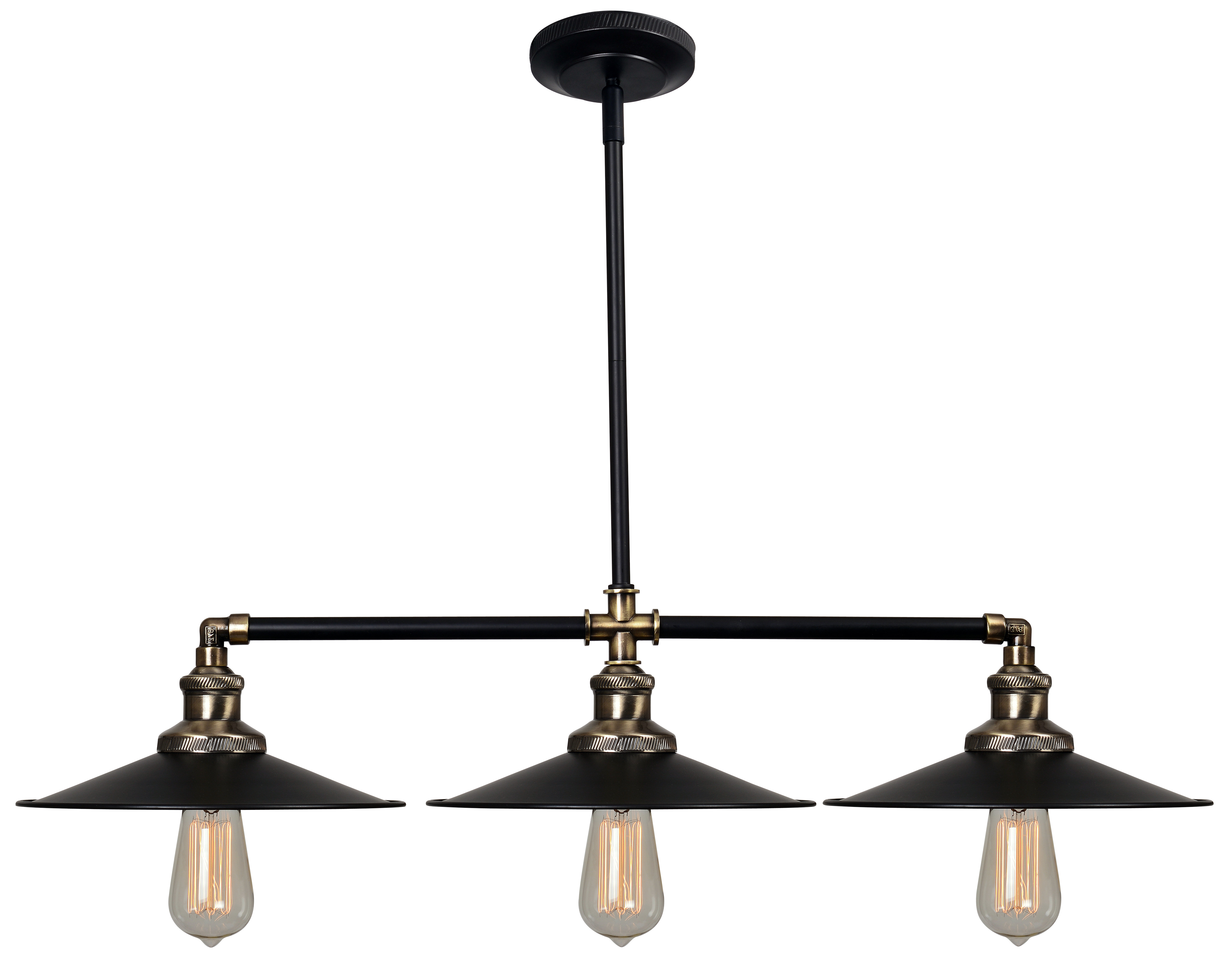 Famous Trent Austin Design Dobson 3 Light Kitchen Island Linear Pendant With Regard To Martinique 3 Light Kitchen Island Dome Pendants (View 5 of 20)