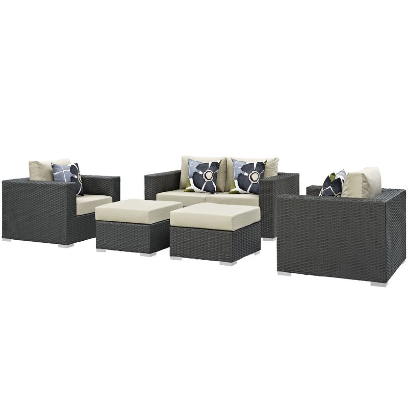 Famous Tripp 5 Piece Sunbrella Sofa Set With Cushions Intended For Tripp Sofa With Cushions (Gallery 12 of 20)