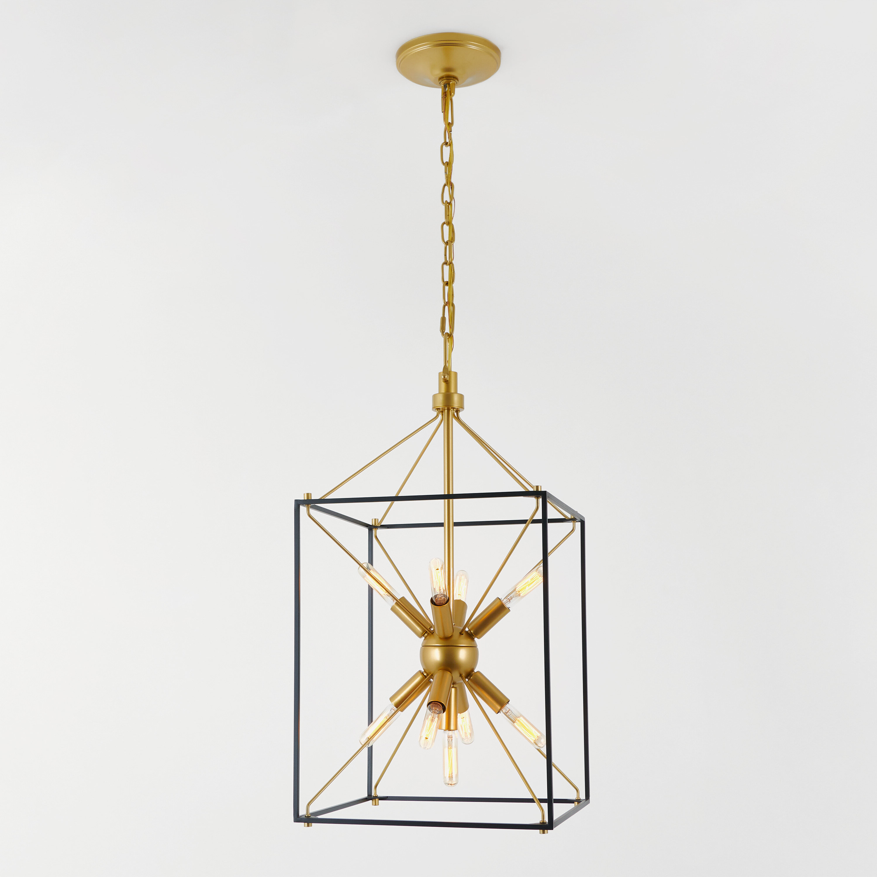 Famous Valentino Modern Rustic 9 Light Square Chandelier Throughout Tiana 4 Light Geometric Chandeliers (Gallery 16 of 20)