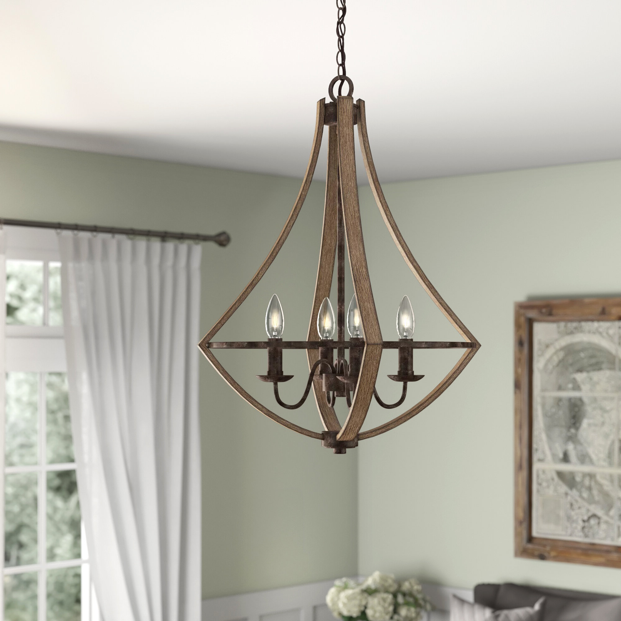Famous Wadlington 6 Light Single Cylinder Pendants With Regard To Reimers 4 Light Candle Style Chandelier (View 8 of 20)