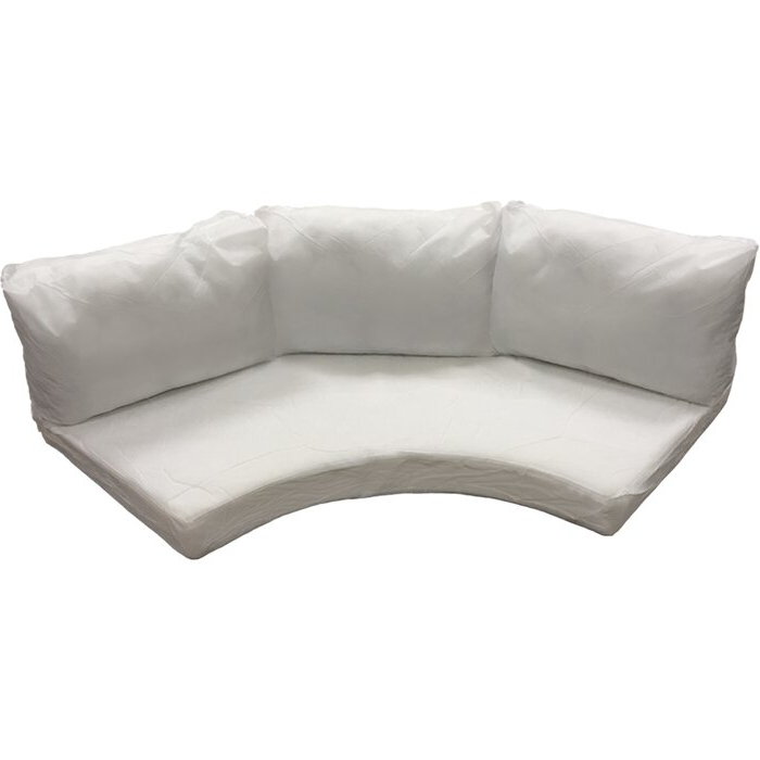 Famous Waterbury Curved Armless Sofa With Cushions For Waterbury Outdoor 8 Piece Curved Armless Cushion Set (View 1 of 20)