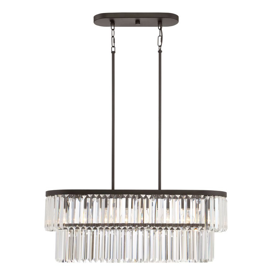 Famous Whitten 4 Light Crystal Chandeliers Regarding Quoizel Valentina 30 In W 4 Light Painted Bronze Kitchen (View 4 of 20)