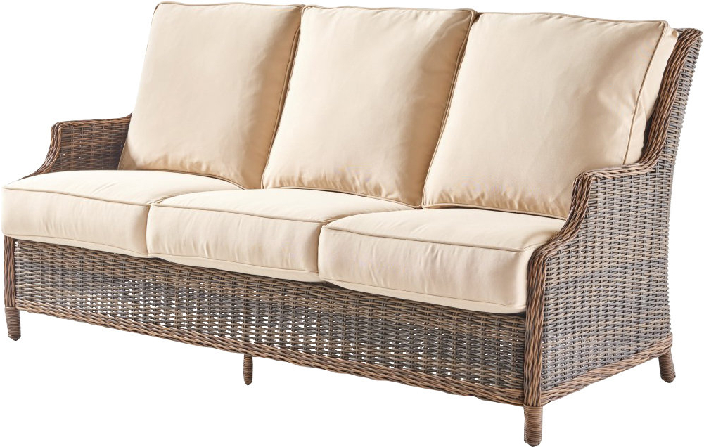 Fannin Patio Sofa With Cushions With Most Up To Date Keever Patio Sofas With Sunbrella Cushions (Gallery 3 of 20)