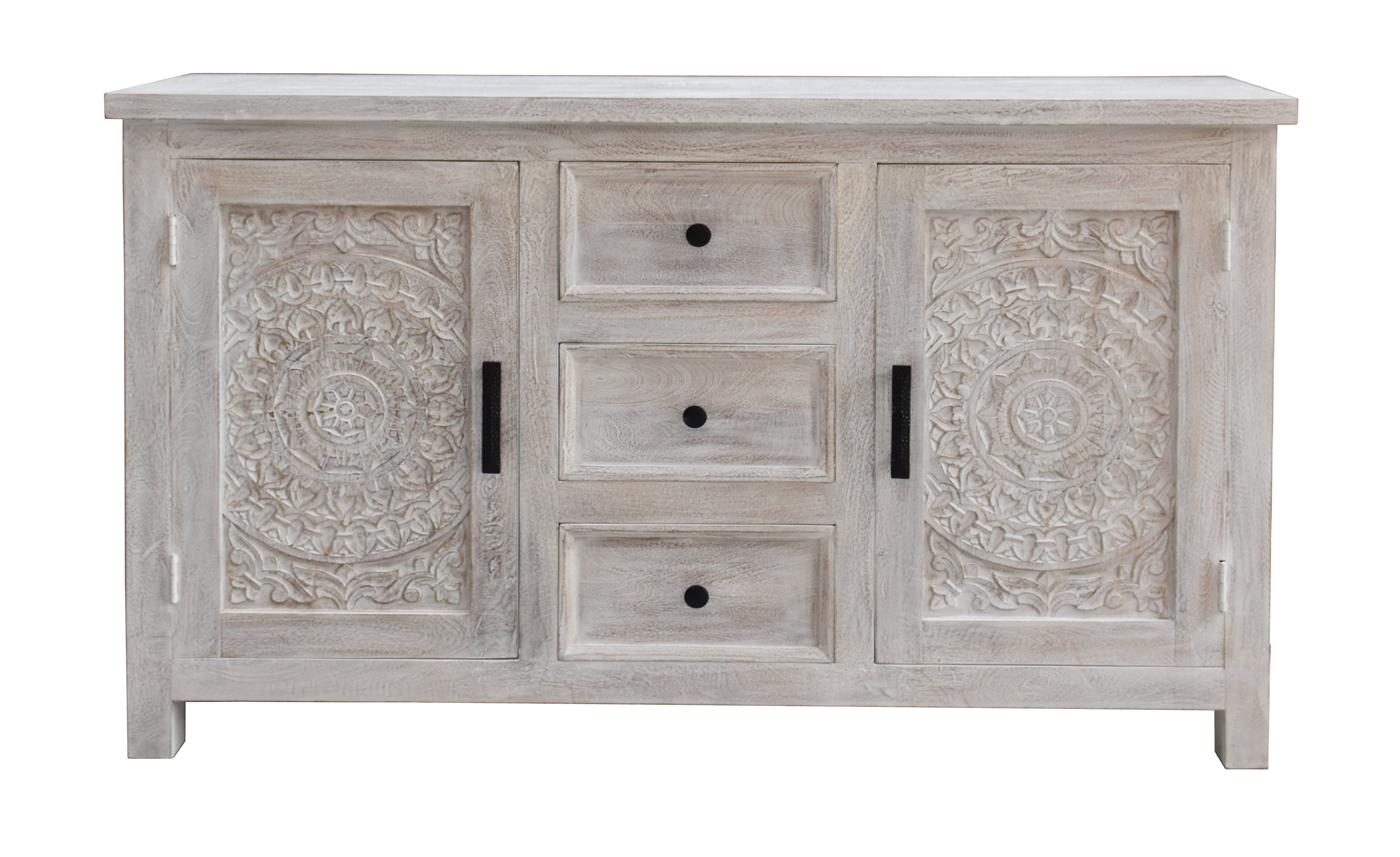 Farmhouse & Rustic Bungalow Rose Sideboards & Buffets Intended For Current Steinhatchee Reclaimed Pine 4 Door Sideboards (Gallery 6 of 20)