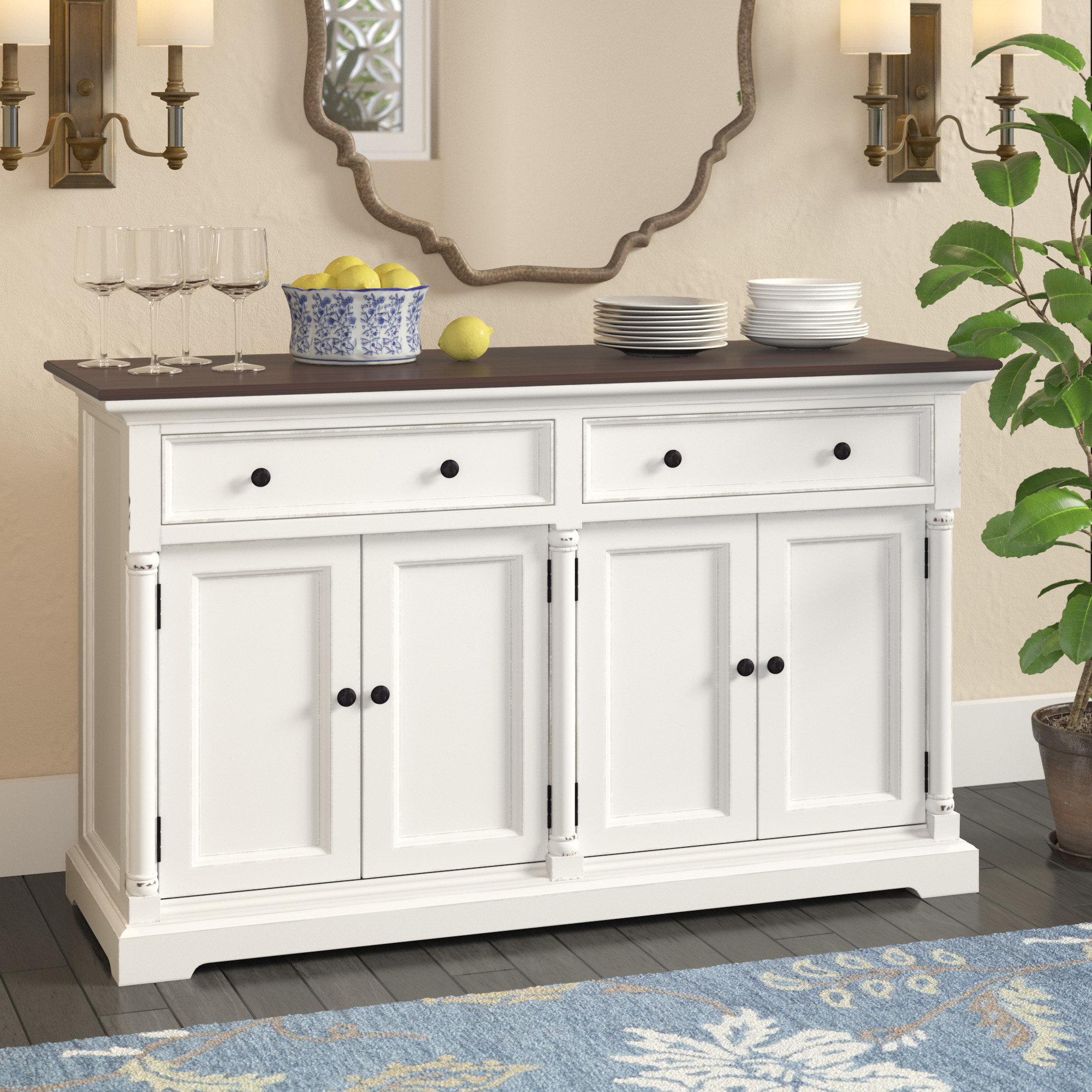 Farmhouse & Rustic Darby Home Co Sideboards & Buffets Throughout Widely Used Phyllis Sideboards (Gallery 7 of 20)
