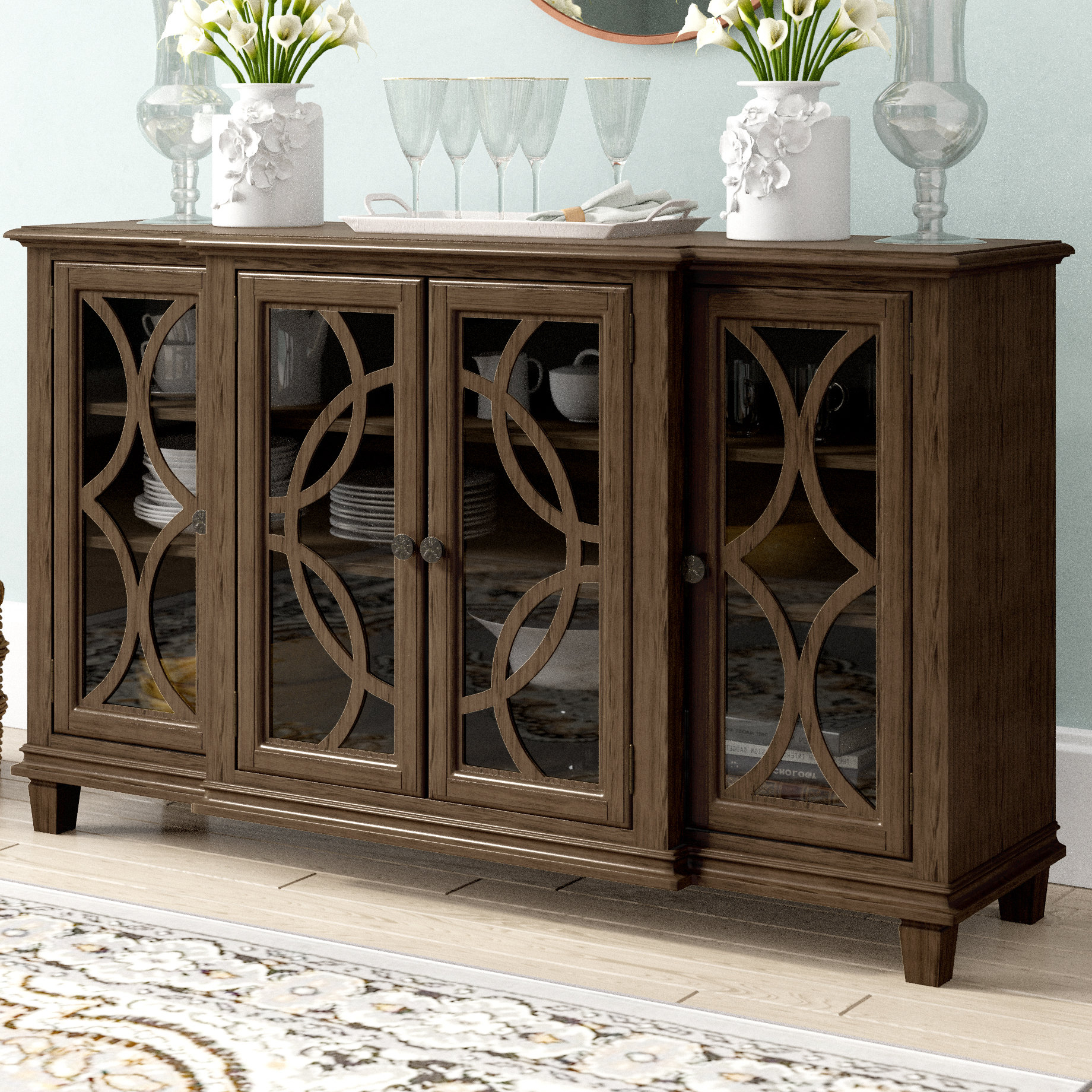 Farmhouse & Rustic Dark Brown Wood Sideboards & Buffets Within Current Phyllis Sideboards (Gallery 4 of 20)