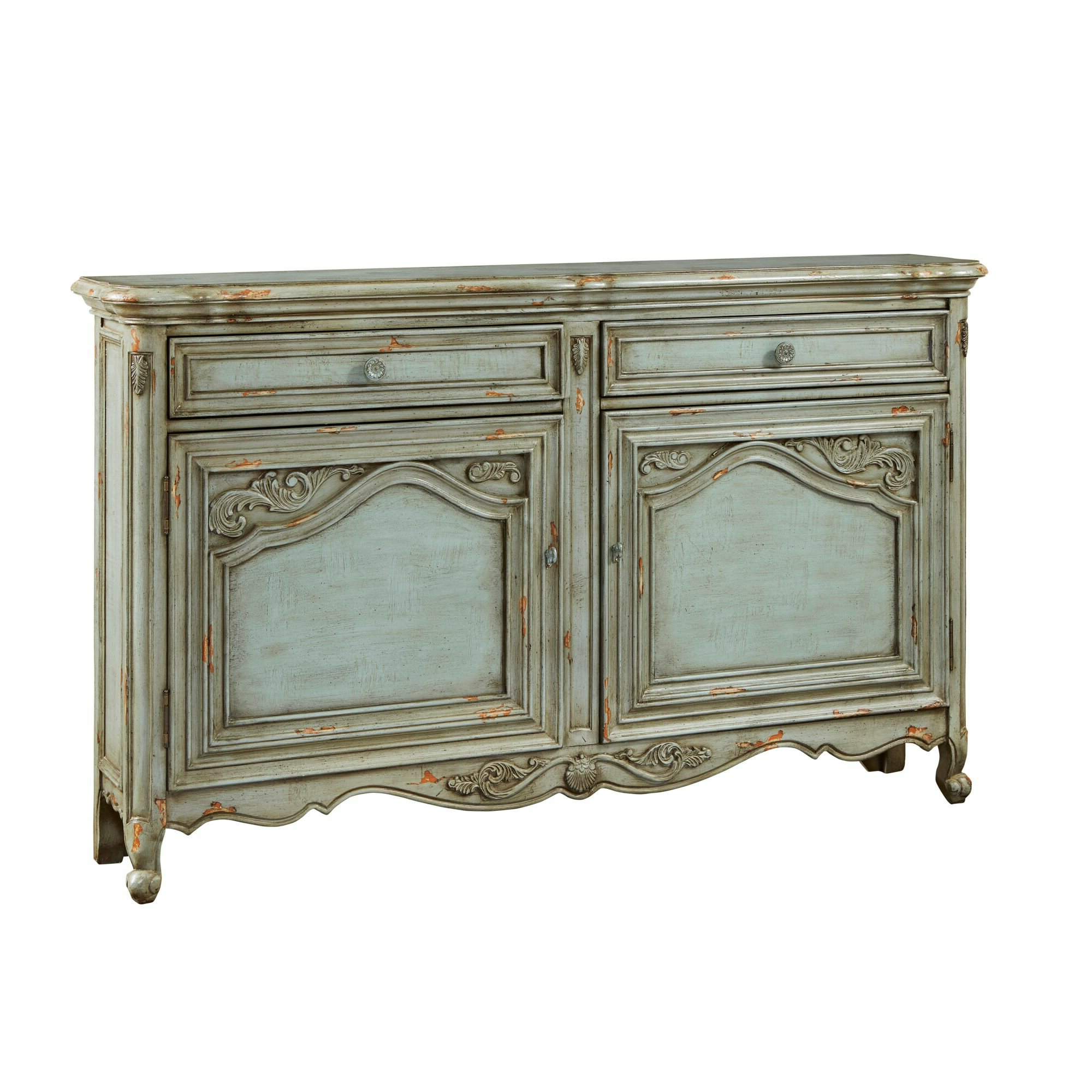 Farmhouse & Rustic Distressed Finish Sideboards & Buffets Intended For Best And Newest Seiling Sideboards (View 16 of 20)