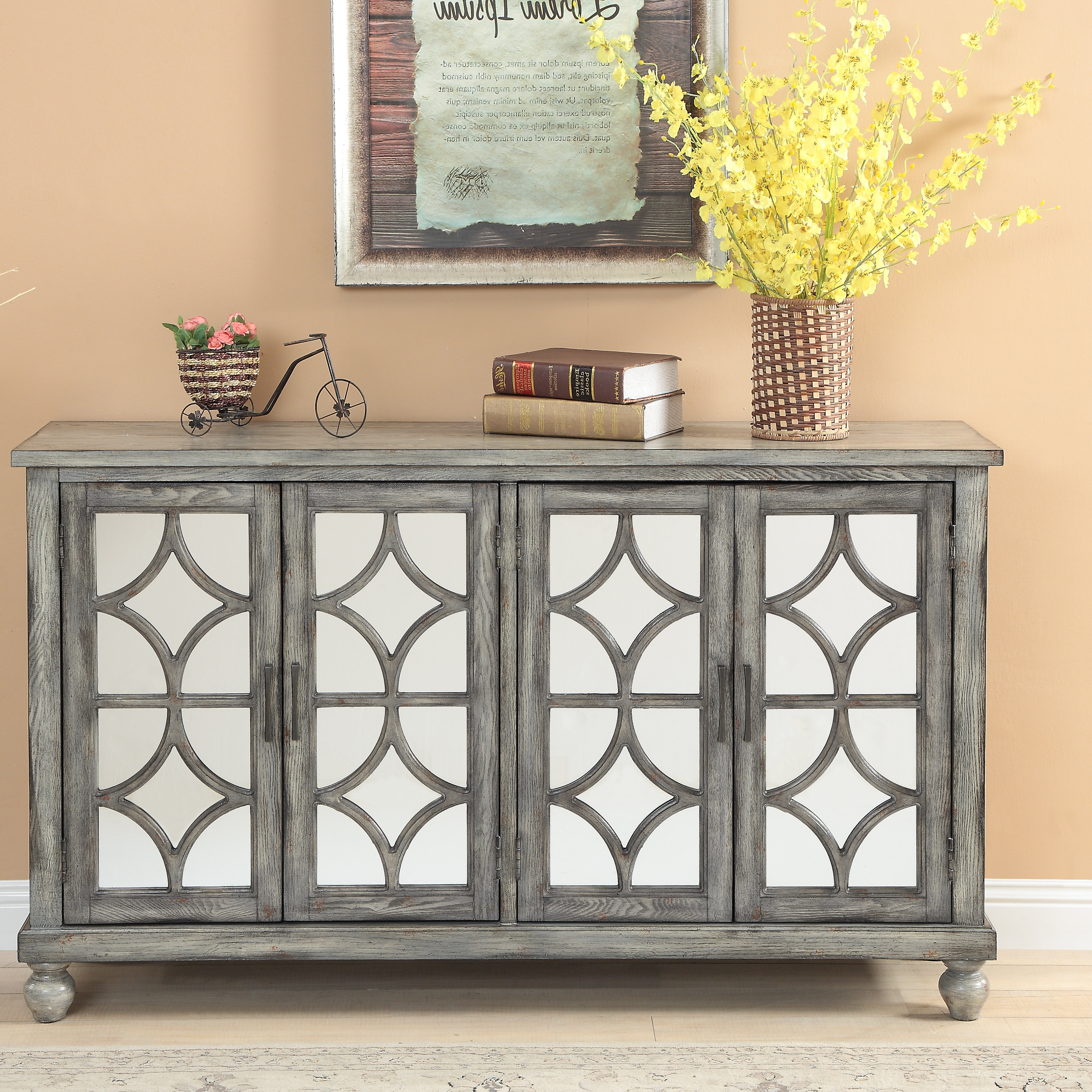 Farmhouse & Rustic One Allium Way Sideboards & Buffets Within 2019 Senda Credenzas (View 5 of 20)