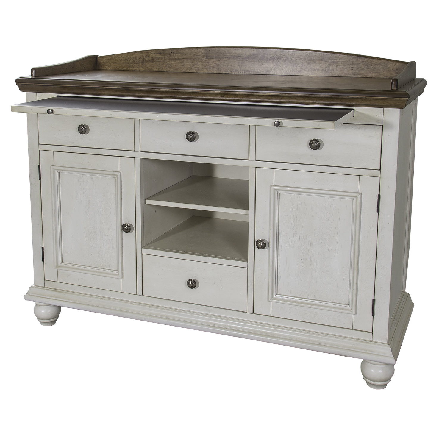 Farmhouse & Rustic Rubberwood Sideboards & Buffets (View 12 of 20)