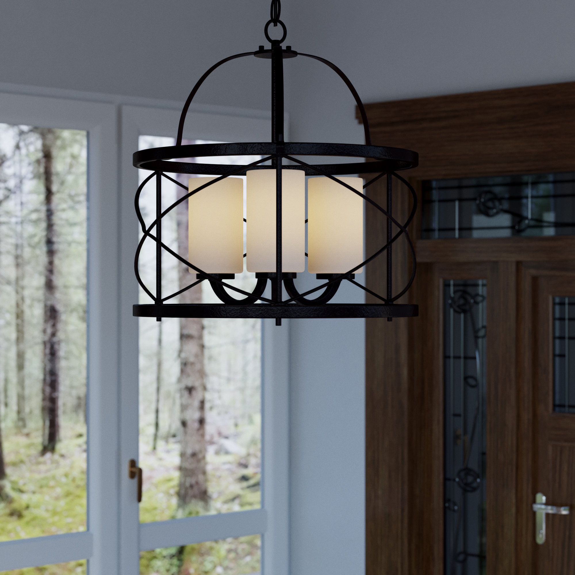 Farrier 3 Light Lantern Drum Pendants Throughout 2020 Farrier 3 Light Lantern Pendant (View 8 of 20)