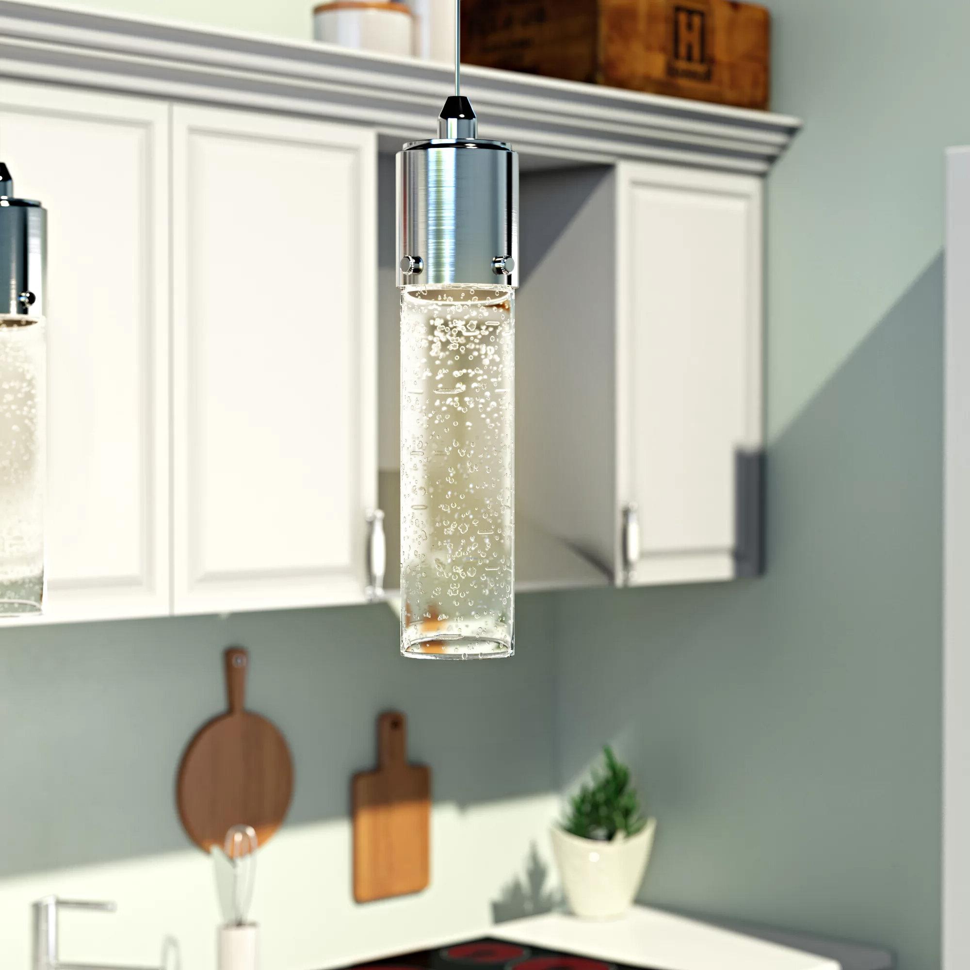 Fashionable Bainbridge 1 Light Single Cylinder Pendants Pertaining To Latitude Run Lumberton 1 Light Led Single Cylinder Pendant (Gallery 10 of 20)