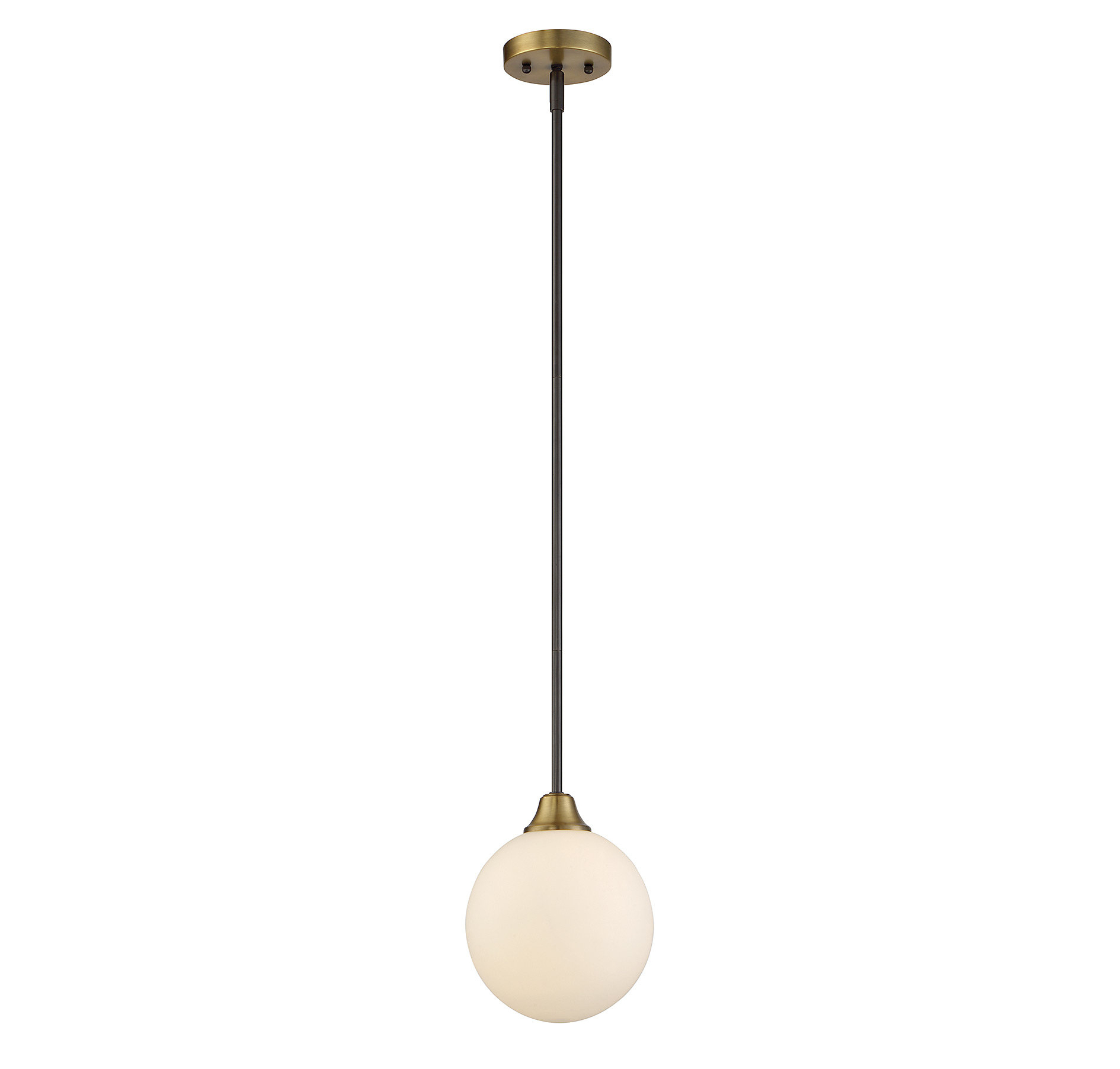 Fashionable Bautista 1 Light Single Globe Pendant Intended For Bautista 6 Light Kitchen Island Bulb Pendants (Gallery 12 of 20)