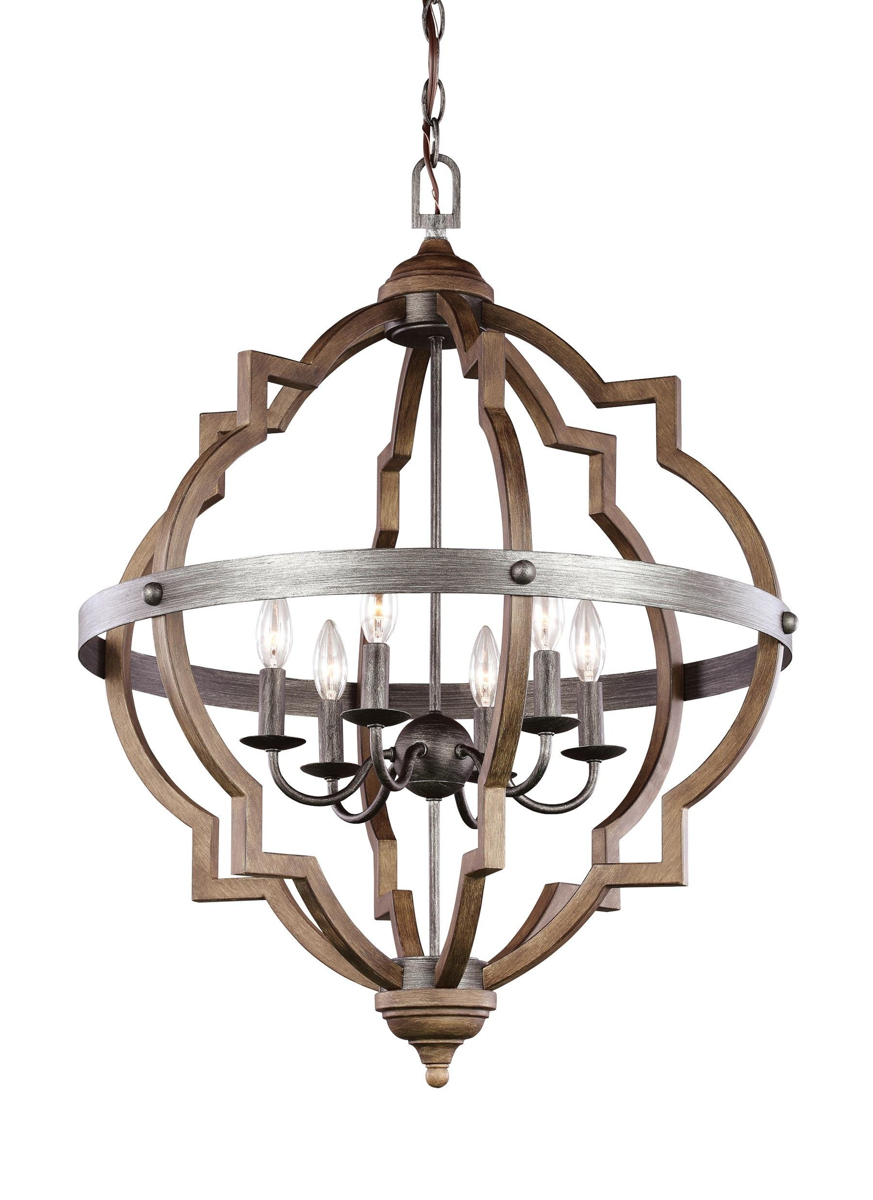 Fashionable Bennington 6 Light Candle Style Chandeliers With Regard To Bennington 6 Light Candle Style Chandelier (Gallery 2 of 20)