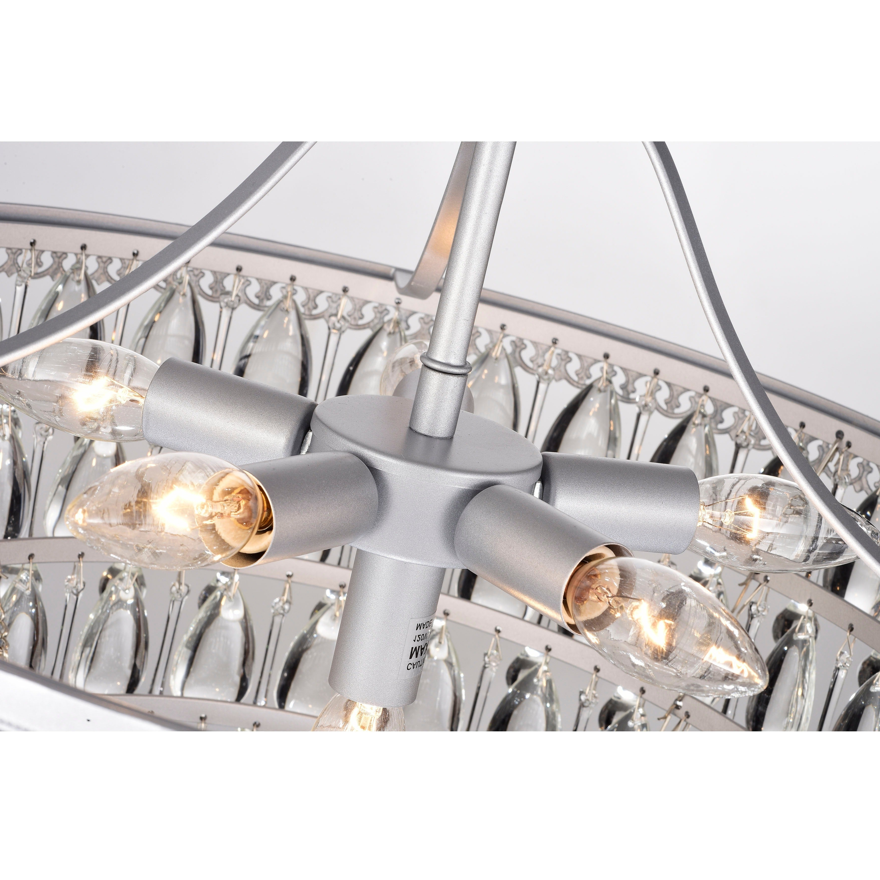 Fashionable Bramers 6 Light Novelty Chandeliers In Silver Orchid Crystal 6 Light Chandelier With Clear Teardrop Beads (View 7 of 20)