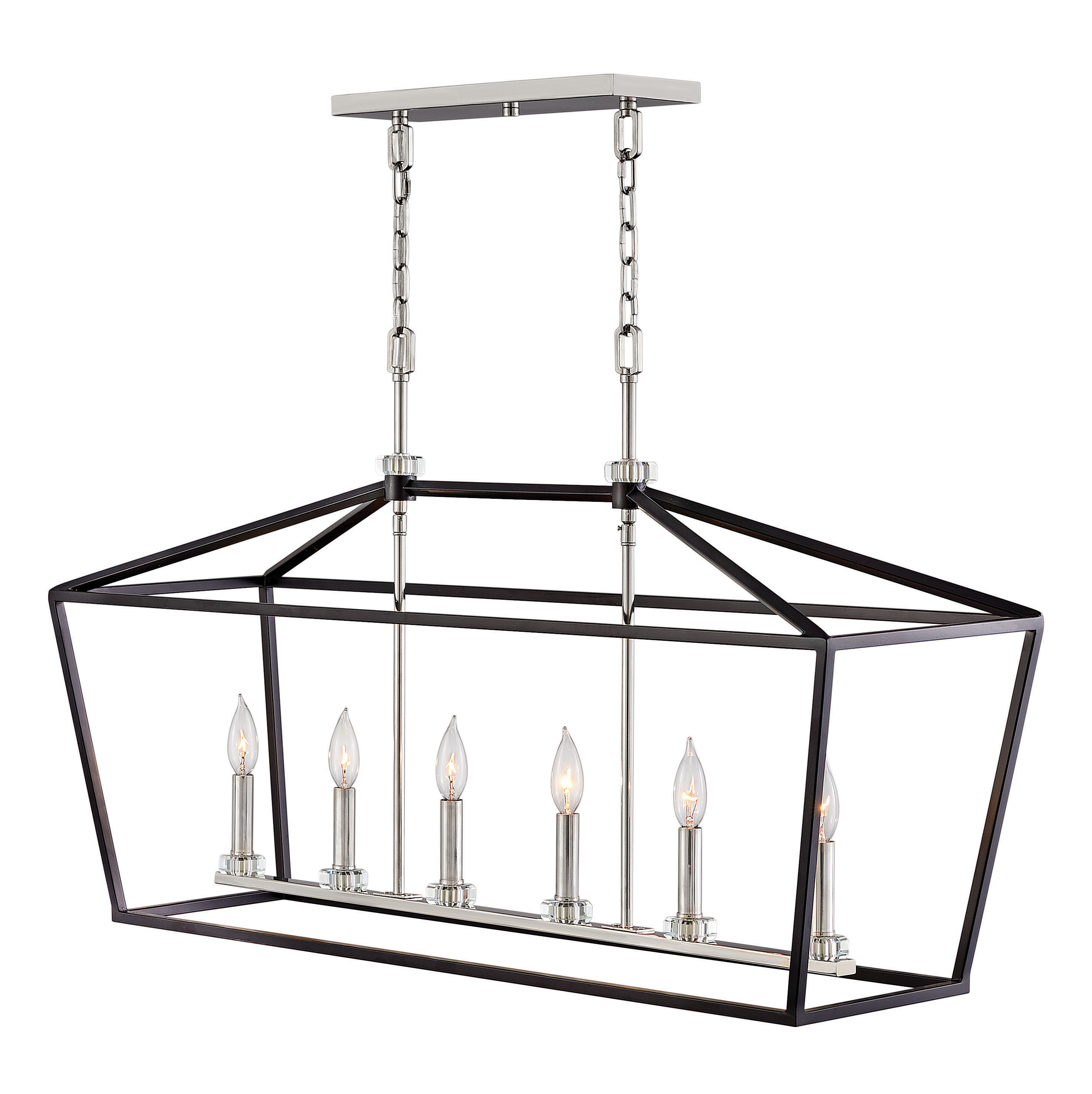 Fashionable Carmen 6 Light Kitchen Island Linear Pendants In Stinson 6 Light Kitchen Island Linear Pendant (View 7 of 20)