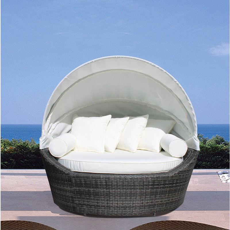Fashionable Carrasco Patio Daybeds With Cushions With Regard To Carrasco Patio Daybed With Cushions (View 3 of 20)