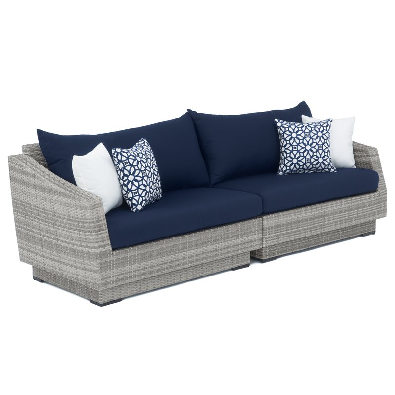 Fashionable Castelli Patio Sofas With Sunbrella Cushions Inside Castelli Patio Sofa With Sunbrella Cushions (Gallery 1 of 20)