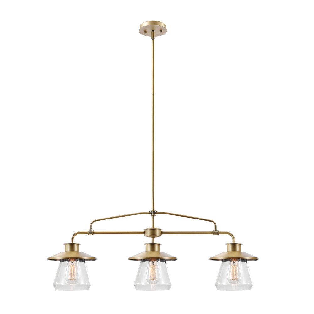 Fashionable Cinchring 3 Light Kitchen Island Pendant Pertaining To Cinchring 1 Light Cone Pendants (Gallery 10 of 20)