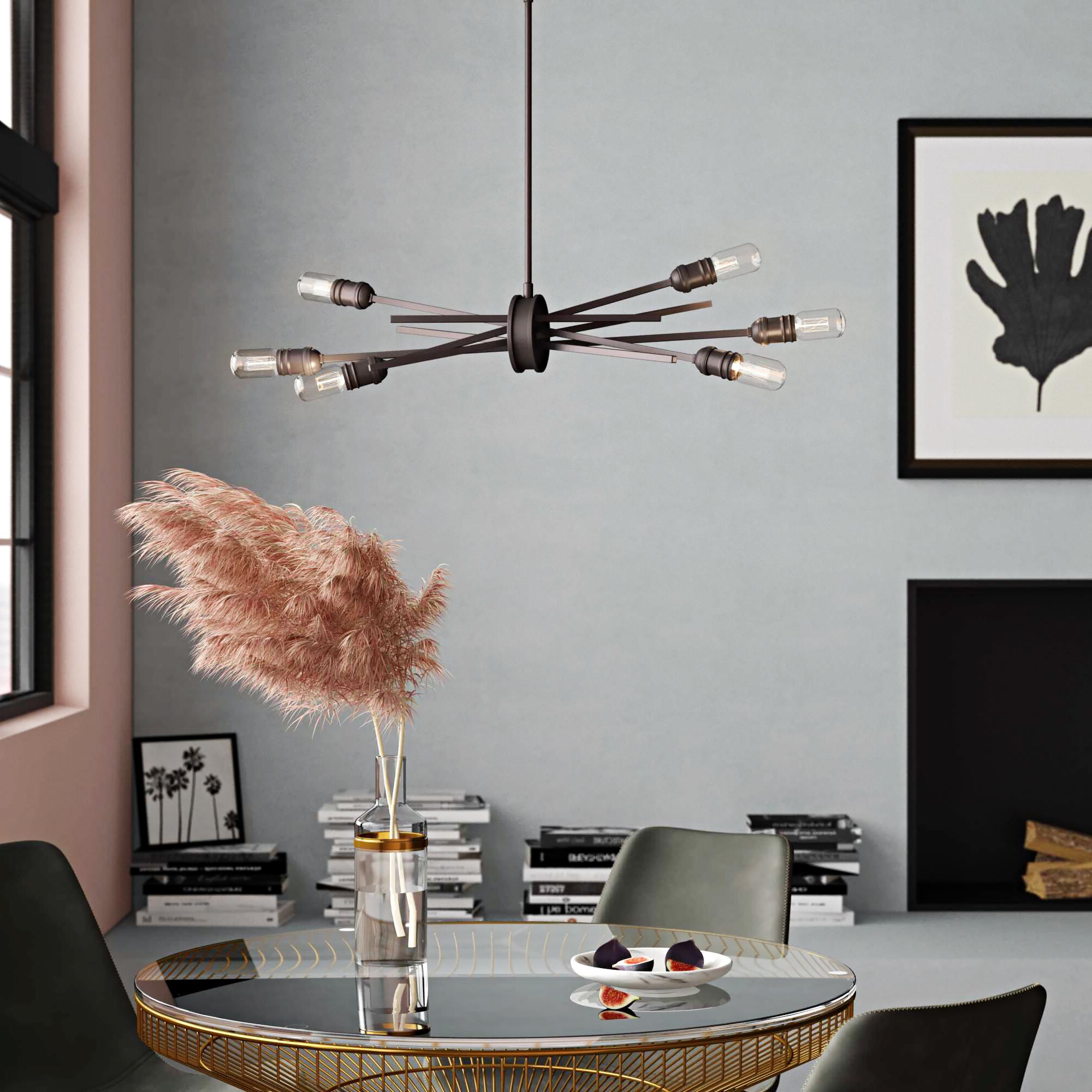 Fashionable Defreitas 18 Light Sputnik Chandeliers Intended For Byler Modern 6 Light Sputnik Chandelier (View 3 of 20)