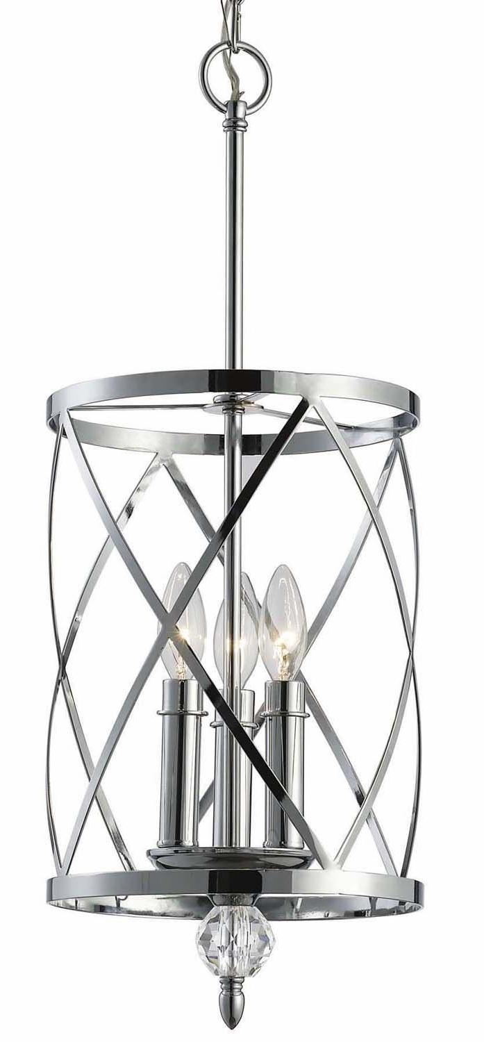 Fashionable Dirksen 3 Light Single Cylinder Chandeliers With Canarm Ich172B03Ch10 Vanessa 3 Light Chandelier, Chrome (View 8 of 20)