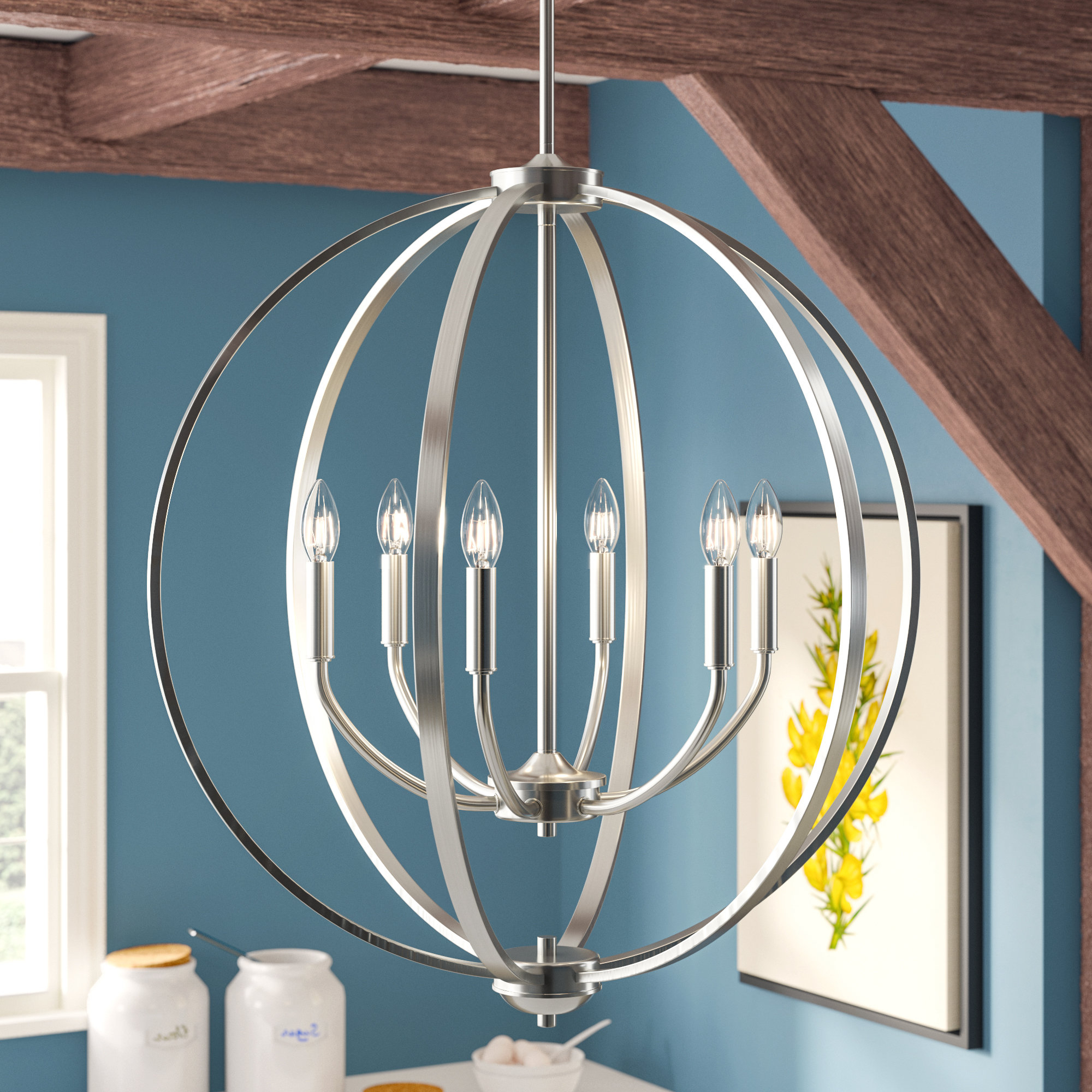 Fashionable Earlene 6 Light Globe Chandelier Pertaining To Gregoire 6 Light Globe Chandeliers (View 4 of 20)