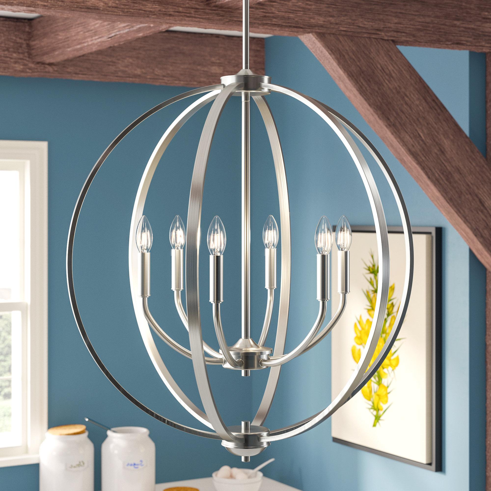 Fashionable Earlene 6 Light Globe Chandelier Pertaining To Gregoire 6 Light Globe Chandeliers (Gallery 8 of 20)