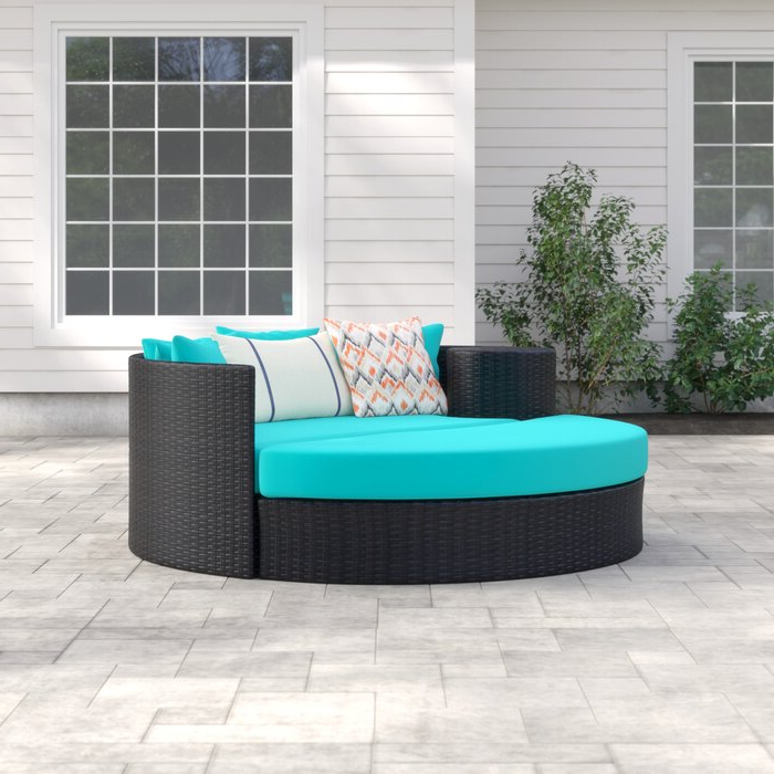 Fashionable Freeport Patio Daybeds With Cushion Within Freeport Patio Daybed With Cushion (Gallery 9 of 20)