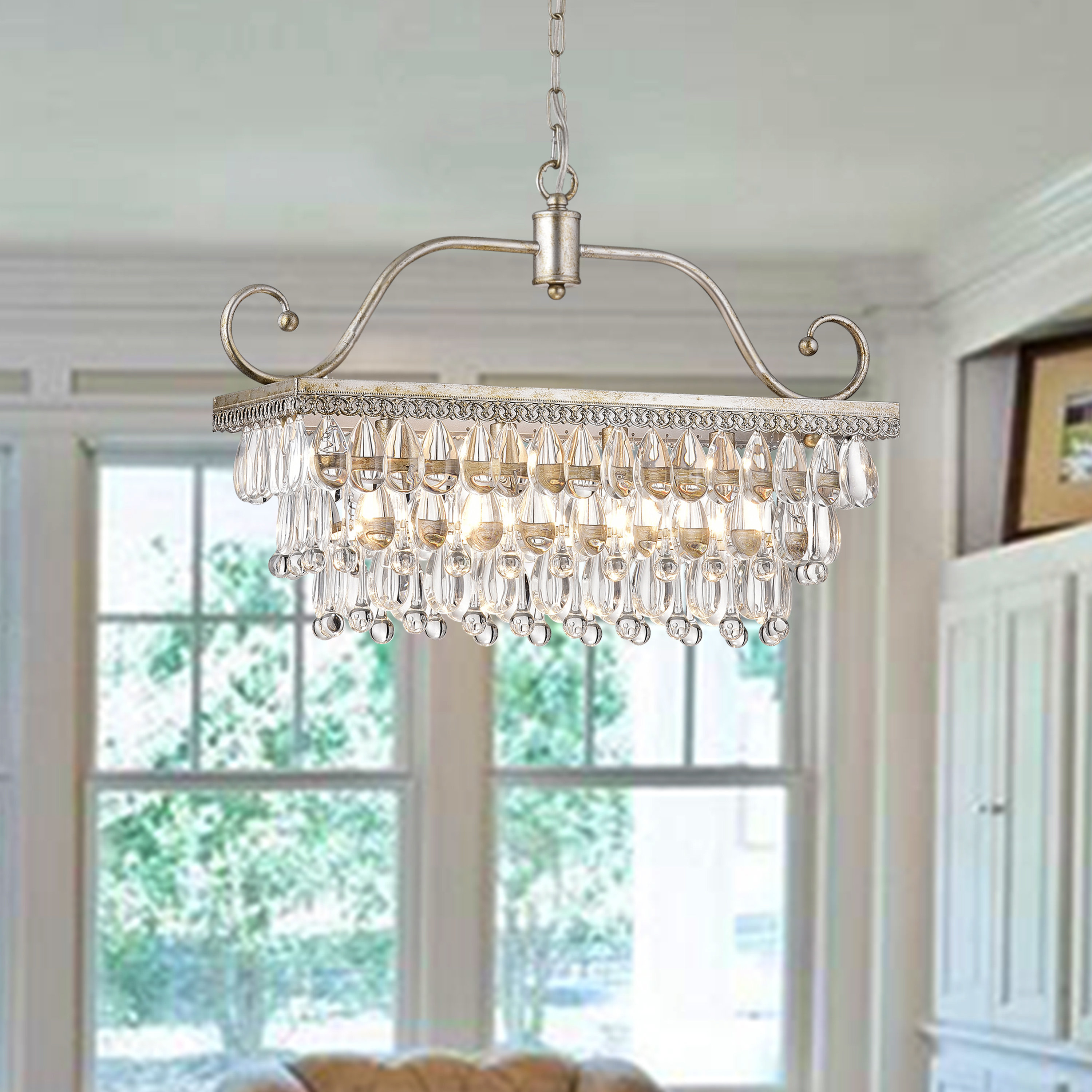 Fashionable Gerhart 4 Light Crystal Chandelier Throughout Dailey 4 Light Drum Chandeliers (Gallery 15 of 20)