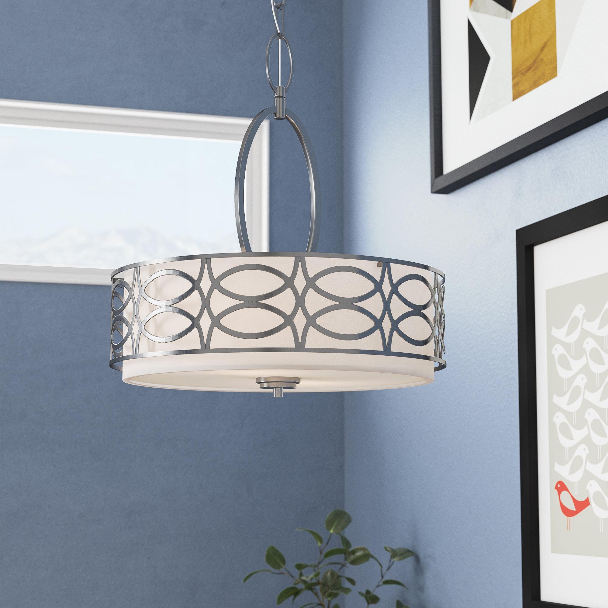 Fashionable Helina 3 Light Pendant Pertaining To Dunson 3 Light Kitchen Island Pendants (View 10 of 20)
