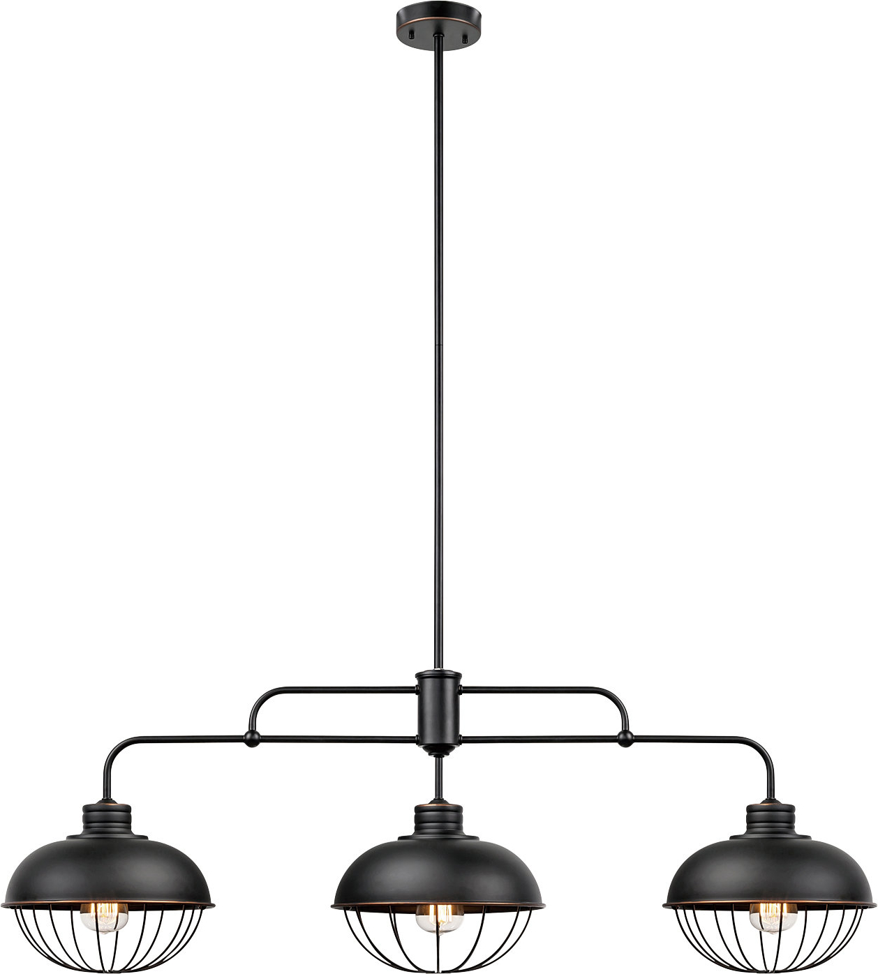 Fashionable Kathi 3 Light Kitchen Island Linear Pendant Intended For Cinchring 4 Light Kitchen Island Linear Pendants (View 8 of 20)