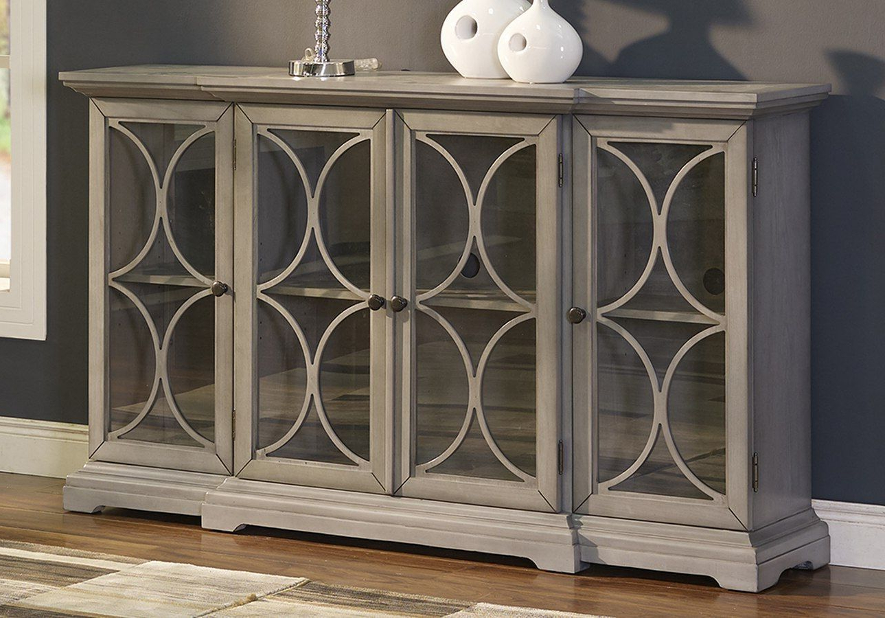 Fashionable Kattie 4 Door Cabinets Regarding Aufregend Diondre 4 Door Accent Cabinet Mirimyn Barn One (View 6 of 20)