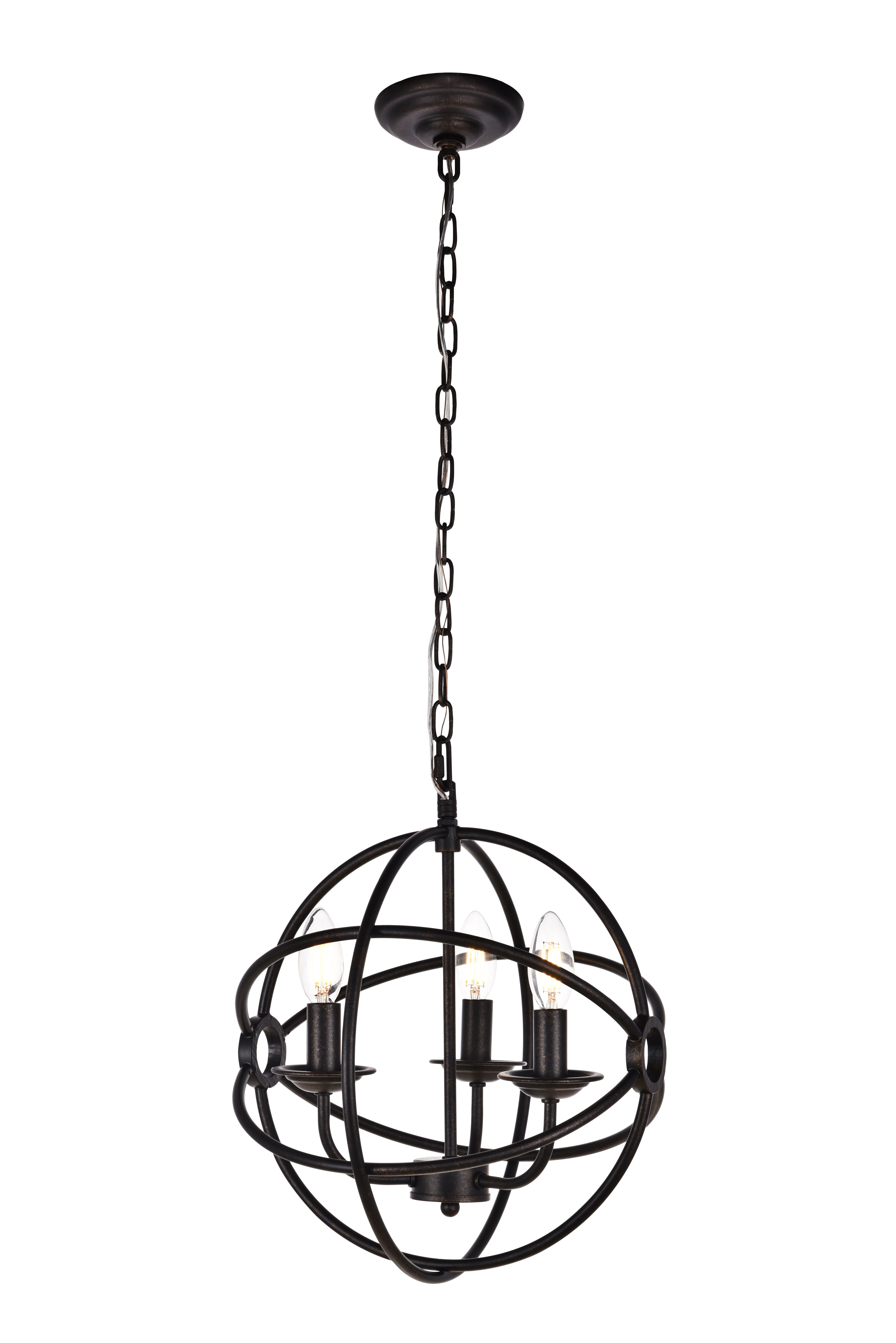 Fashionable La Barge 3 Light Globe Chandeliers For Shipststour 3 Light Globe Chandelier (Gallery 4 of 20)