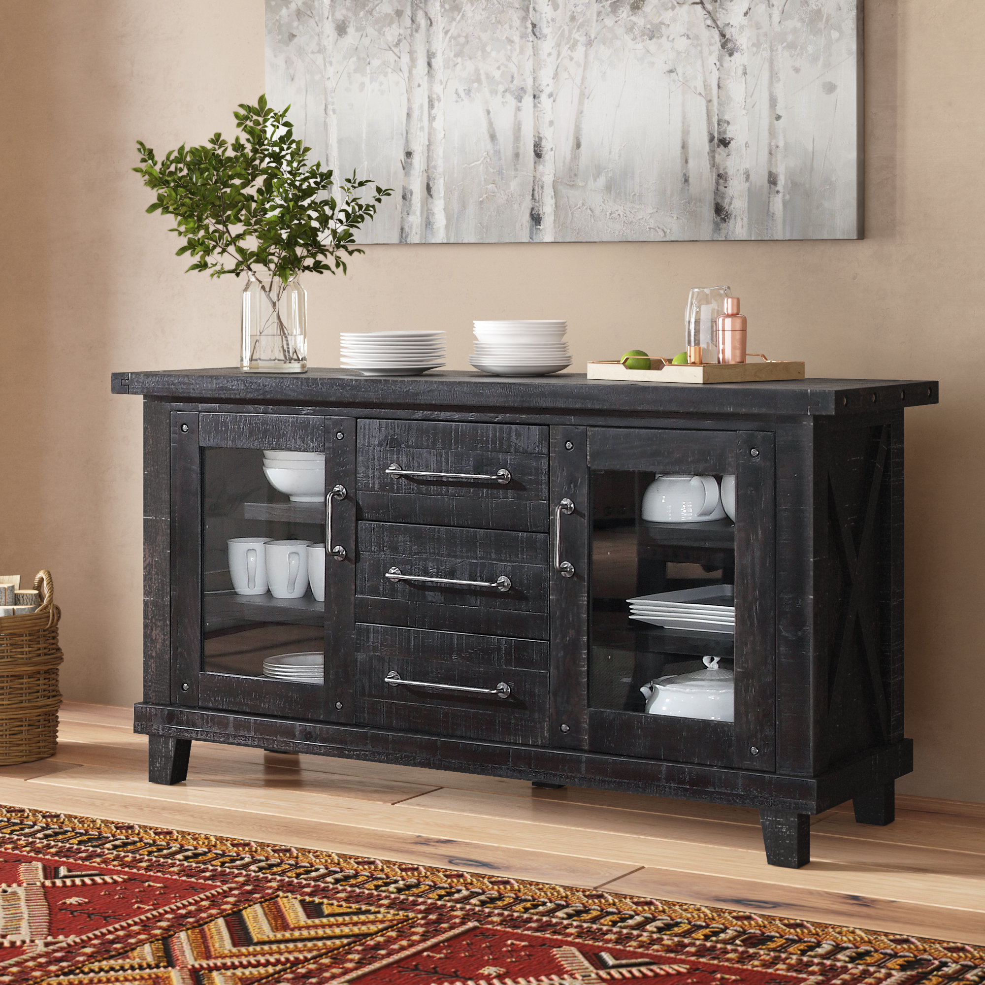 Fashionable Laurel Foundry Modern Farmhouse Langsa Sideboard & Reviews Intended For Kratz Sideboards (View 9 of 20)