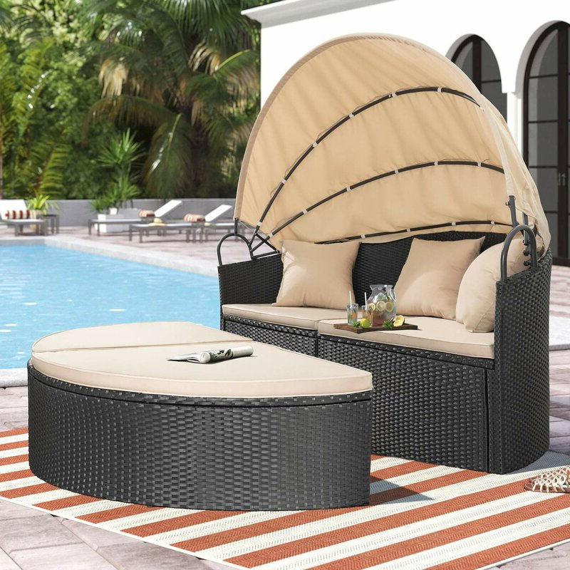Fashionable Leiston Round Patio Daybeds With Cushions With Regard To Leiston Round Patio Daybed With Cushions (Gallery 3 of 20)