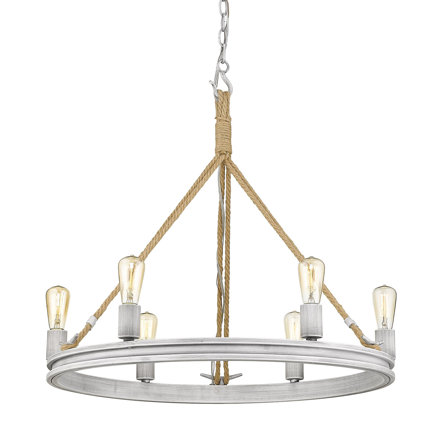 Fashionable Longfellow 6 Light Wagon Wheel Chandelier Pertaining To Janette 5 Light Wagon Wheel Chandeliers (Gallery 18 of 20)