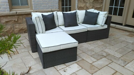 Fashionable Madison Avenue Patio Sectionals With Sunbrella Cushions With Regard To Three Posts Burruss Patio Sectional With Cushions (Gallery 13 of 20)
