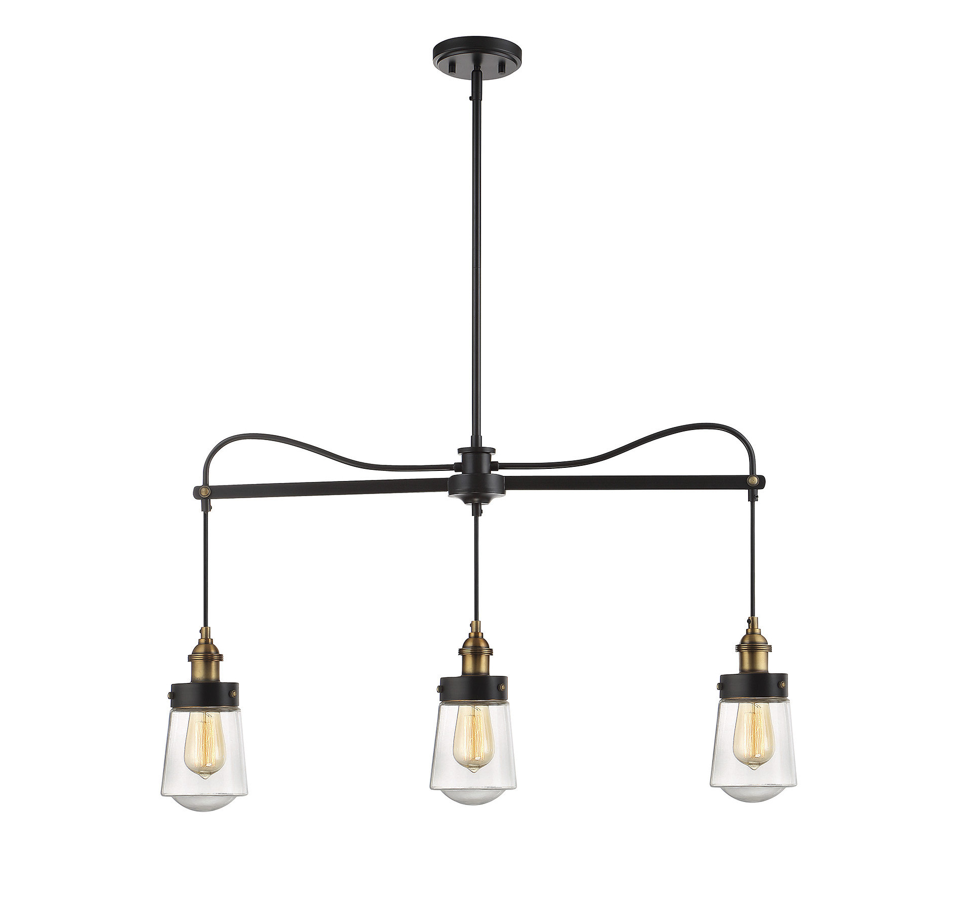 Fashionable Martinique 3 Light Kitchen Island Dome Pendants Regarding Gough 3 Light Kitchen Island Linear Pendant (View 7 of 20)