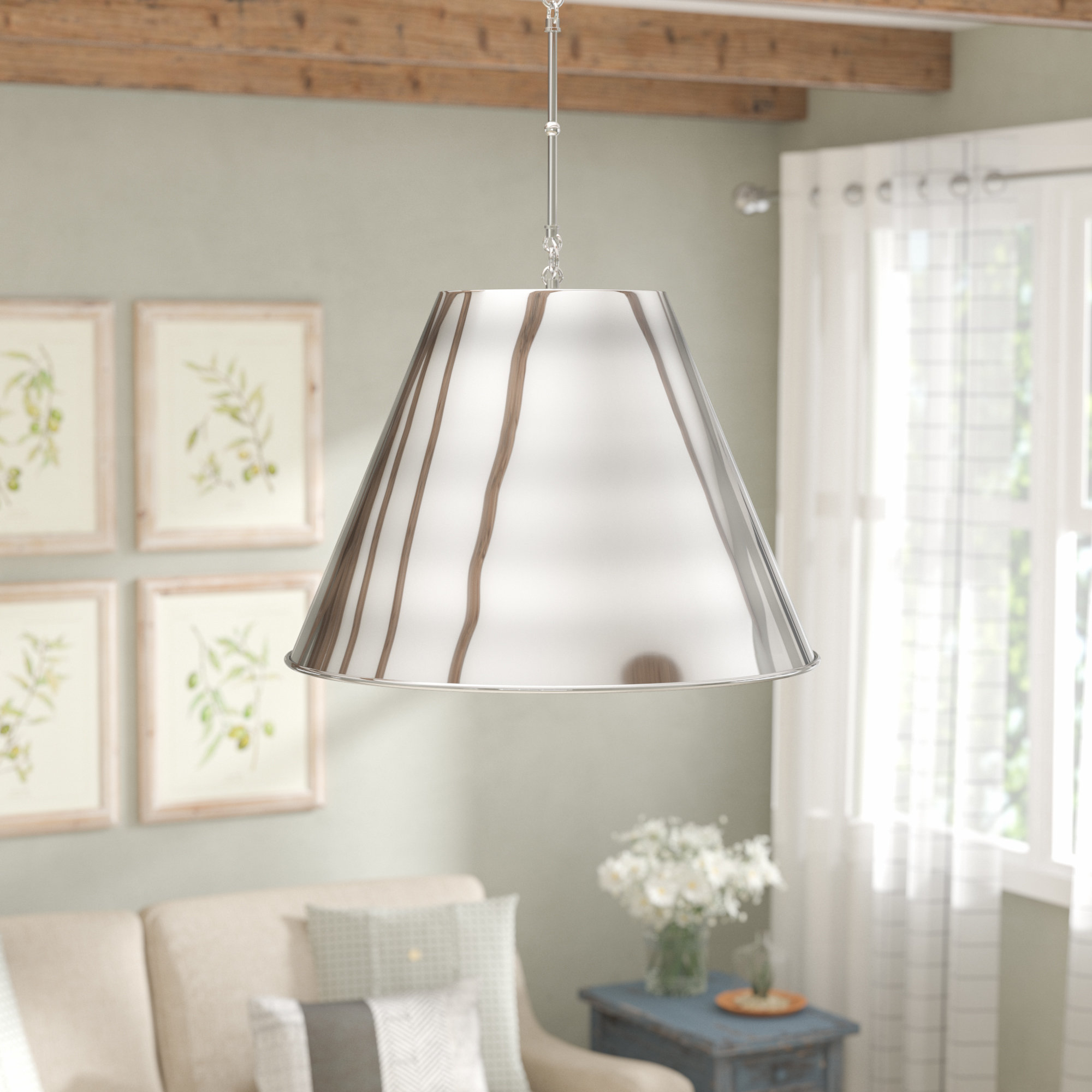 Fashionable Nadeau 1 Light Cone Pendant Inside Nadeau 1 Light Single Cone Pendants (View 2 of 20)
