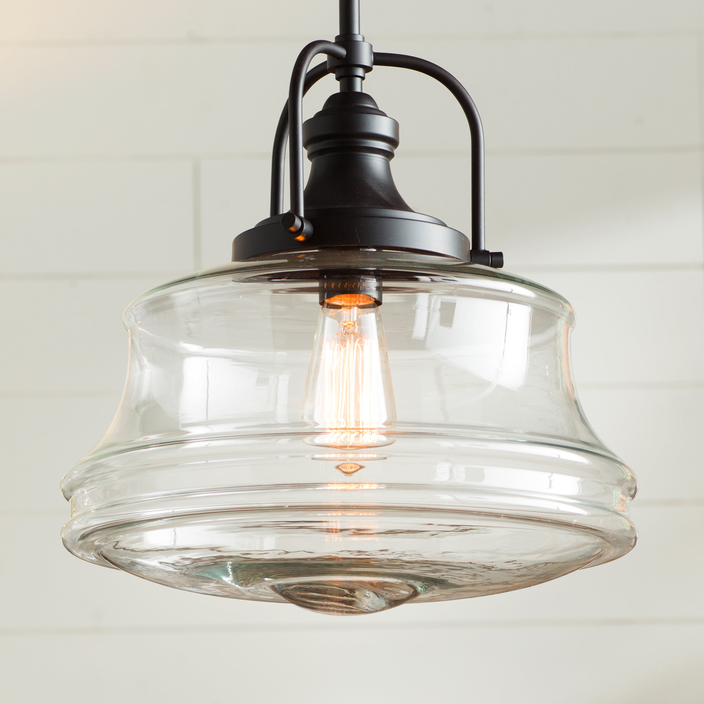 Fashionable Nadine 1 Light Single Schoolhouse Pendants Inside Nadine 1 Light Single Schoolhouse Pendant (Gallery 2 of 20)