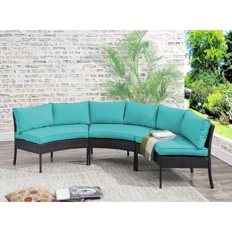 Fashionable Nolen Patio Sectional With Cushions Regarding Nolen Patio Sectionals With Cushions (View 4 of 20)