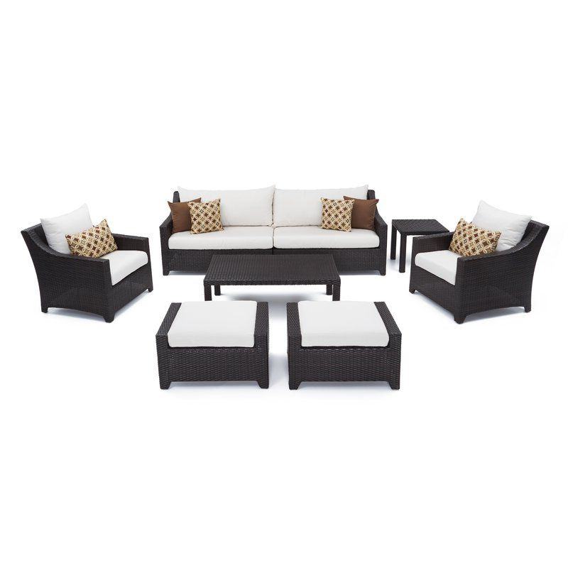 Fashionable Northridge Patio Sofas With Sunbrella Cushions Regarding Northridge 8 Piece Sofa Set With Cushions In 2019 (Gallery 18 of 20)