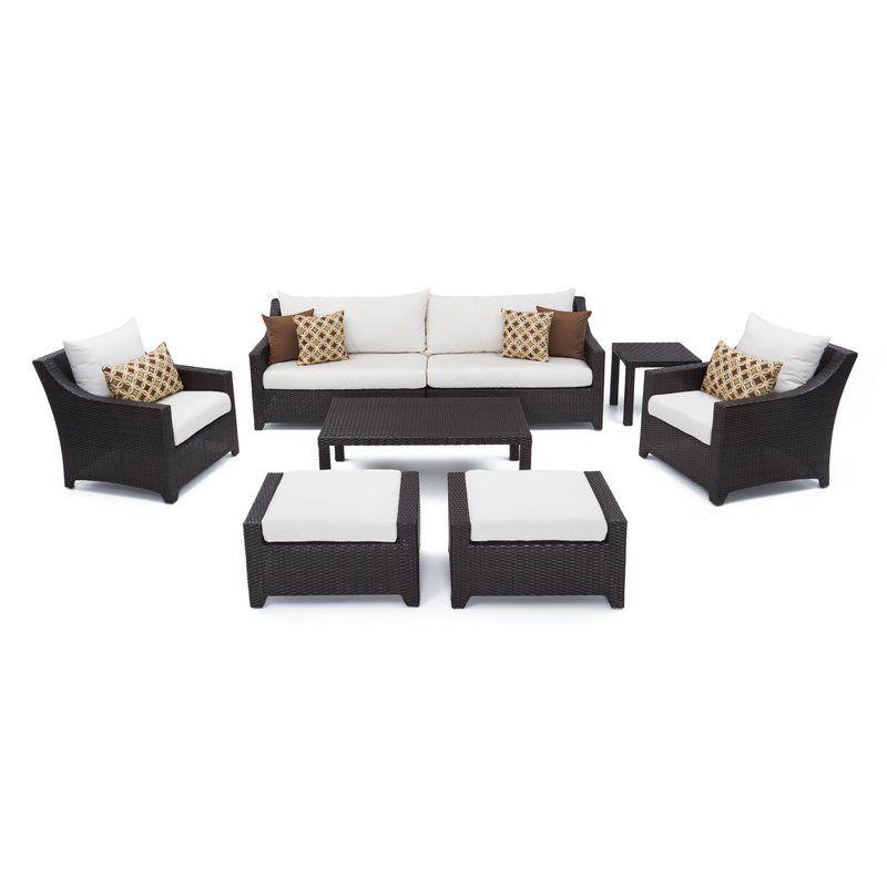Fashionable Northridge Patio Sofas With Sunbrella Cushions Regarding Northridge 8 Piece Sofa Set With Cushions In 2019 (Gallery 18 of 20)