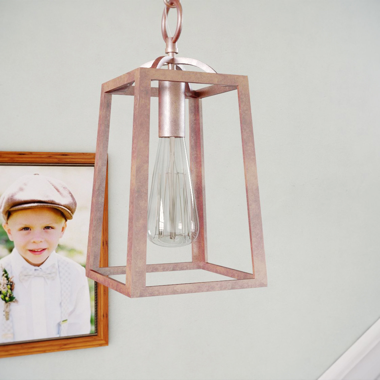 Fashionable Senter 1 Light Lantern Geometric Pendant For Leiters 3 Light Lantern Geometric Pendants (View 8 of 20)