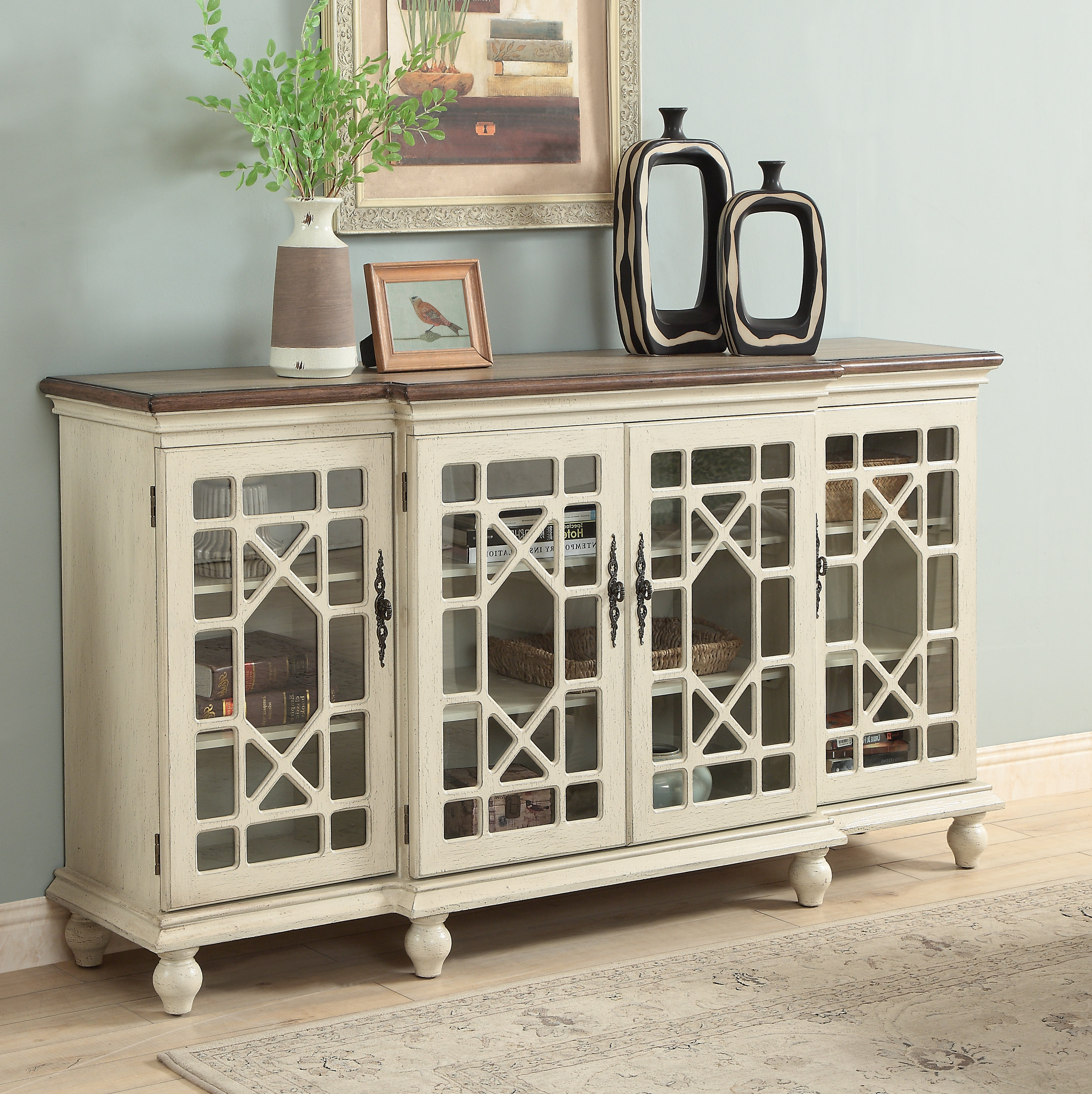 Fashionable Serafino Media Credenzas Within Four Door Media Credenza (Gallery 13 of 20)