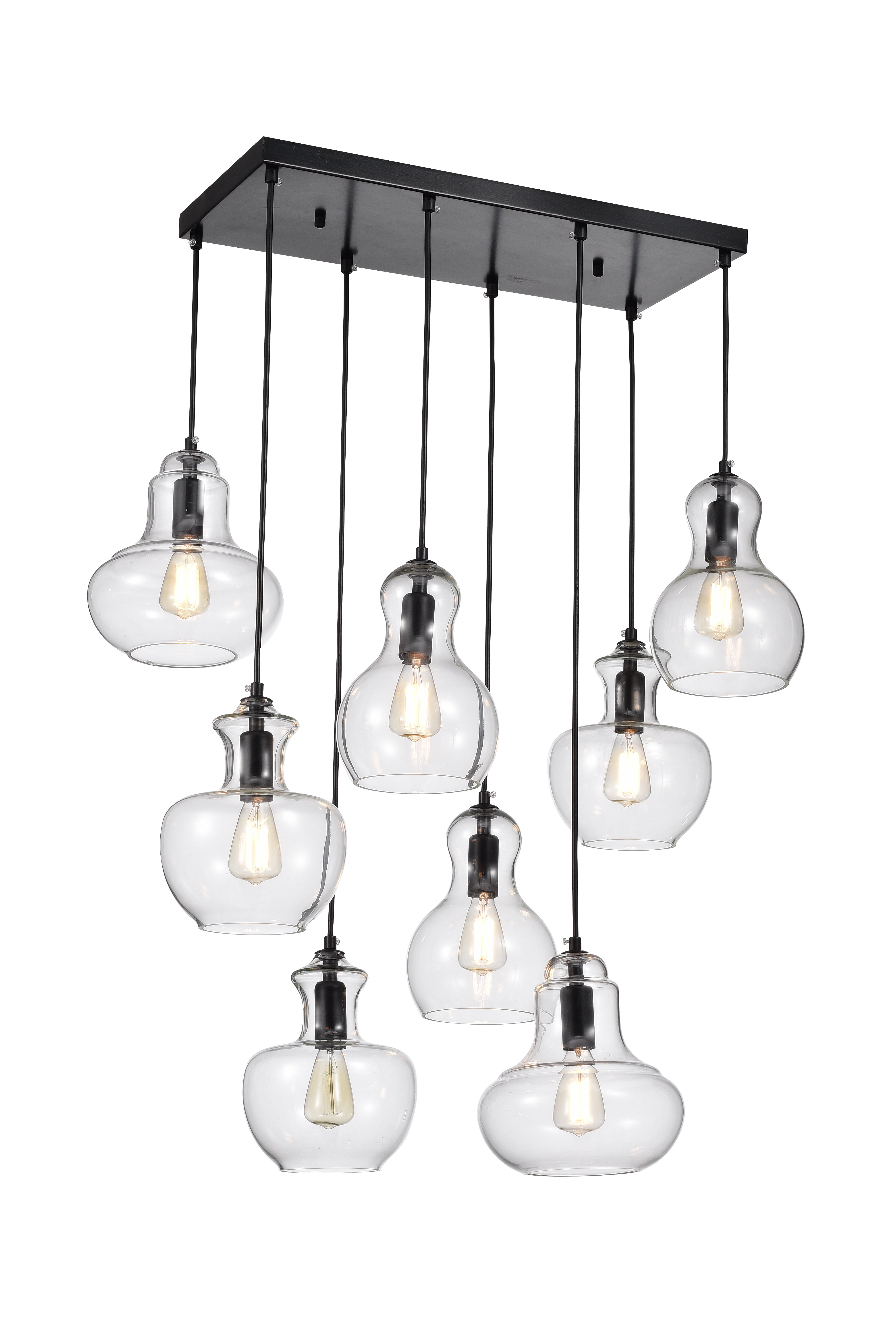 Fashionable Spillman 8 Light Cluster Pendant Regarding Pruett Cognac Glass 8 Light Cluster Pendants (View 4 of 20)