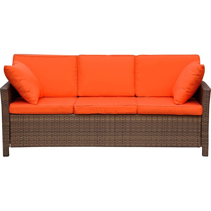 Fashionable Stapleton Wicker Resin Patio Sofas With Cushions For Stapleton Wicker Resin Patio Sofa With Cushions (Gallery 1 of 20)