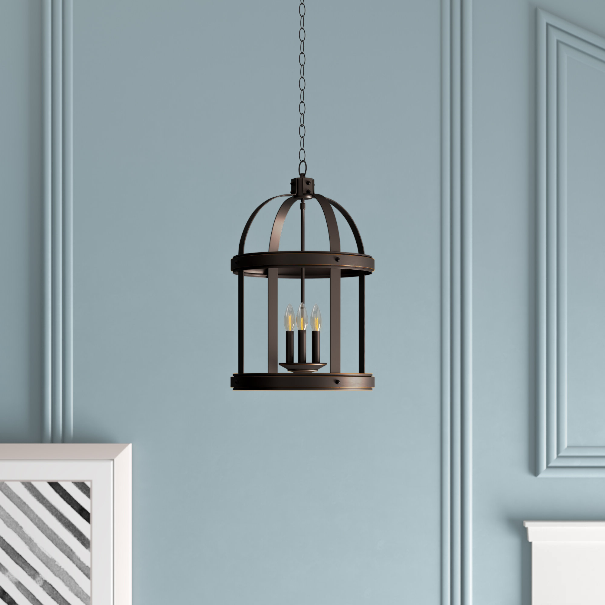 Fashionable Tessie 3 Light Lantern Cylinder Pendants Inside Pawling 3 Light Lantern Cylinder Pendant (View 8 of 20)