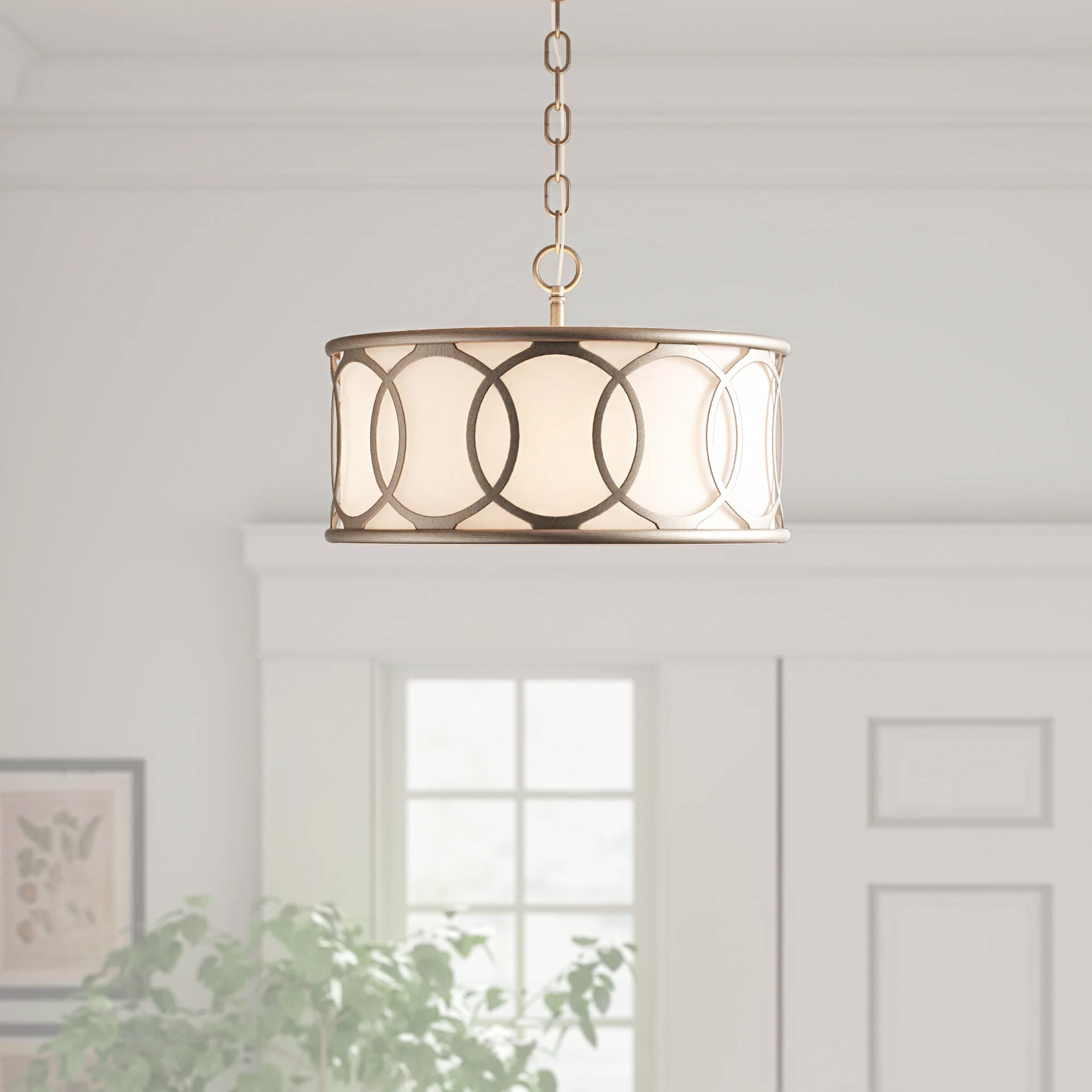 Fashionable Townsend 3 Light Chandelier With Helina 1 Light Pendants (View 3 of 20)