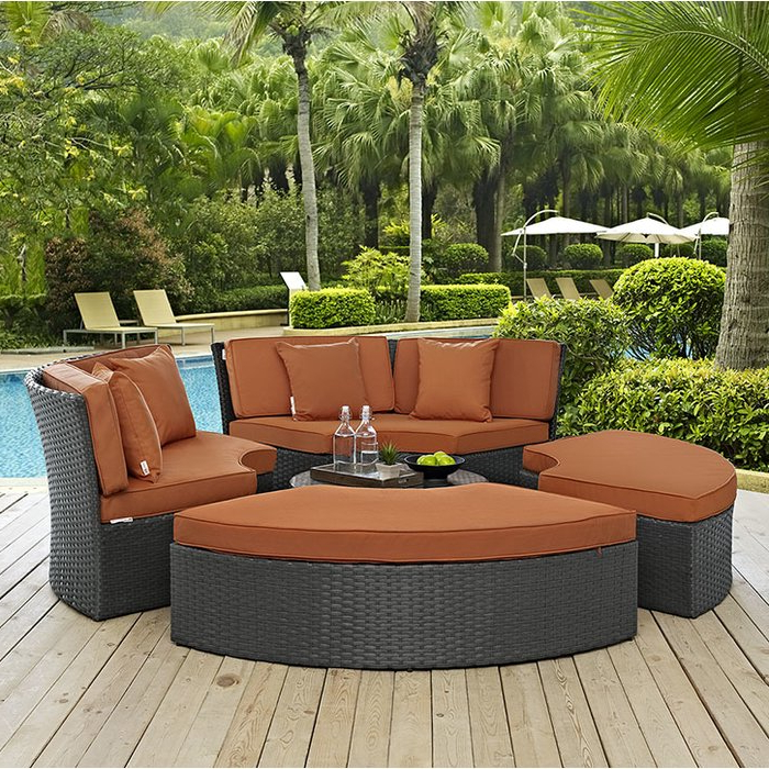 Fashionable Tripp Daybed With Cushions Inside Tripp Patio Daybeds With Cushions (View 5 of 20)